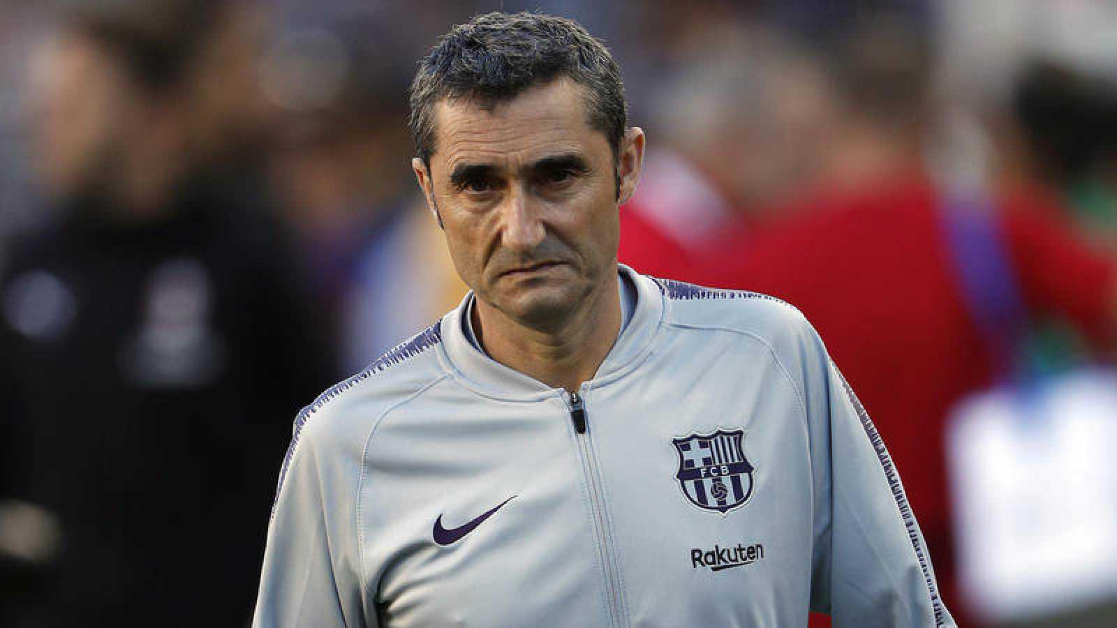 El entrenador del FC Barcelona, Ernesto Valverde.