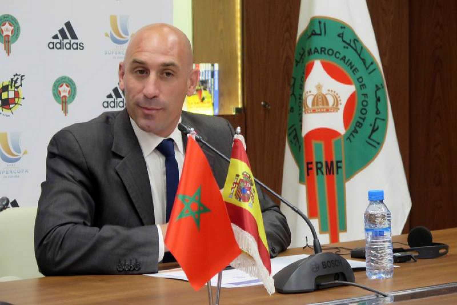 El presidente de la Real Federación Española de Fútbol, Luis Rubiales.