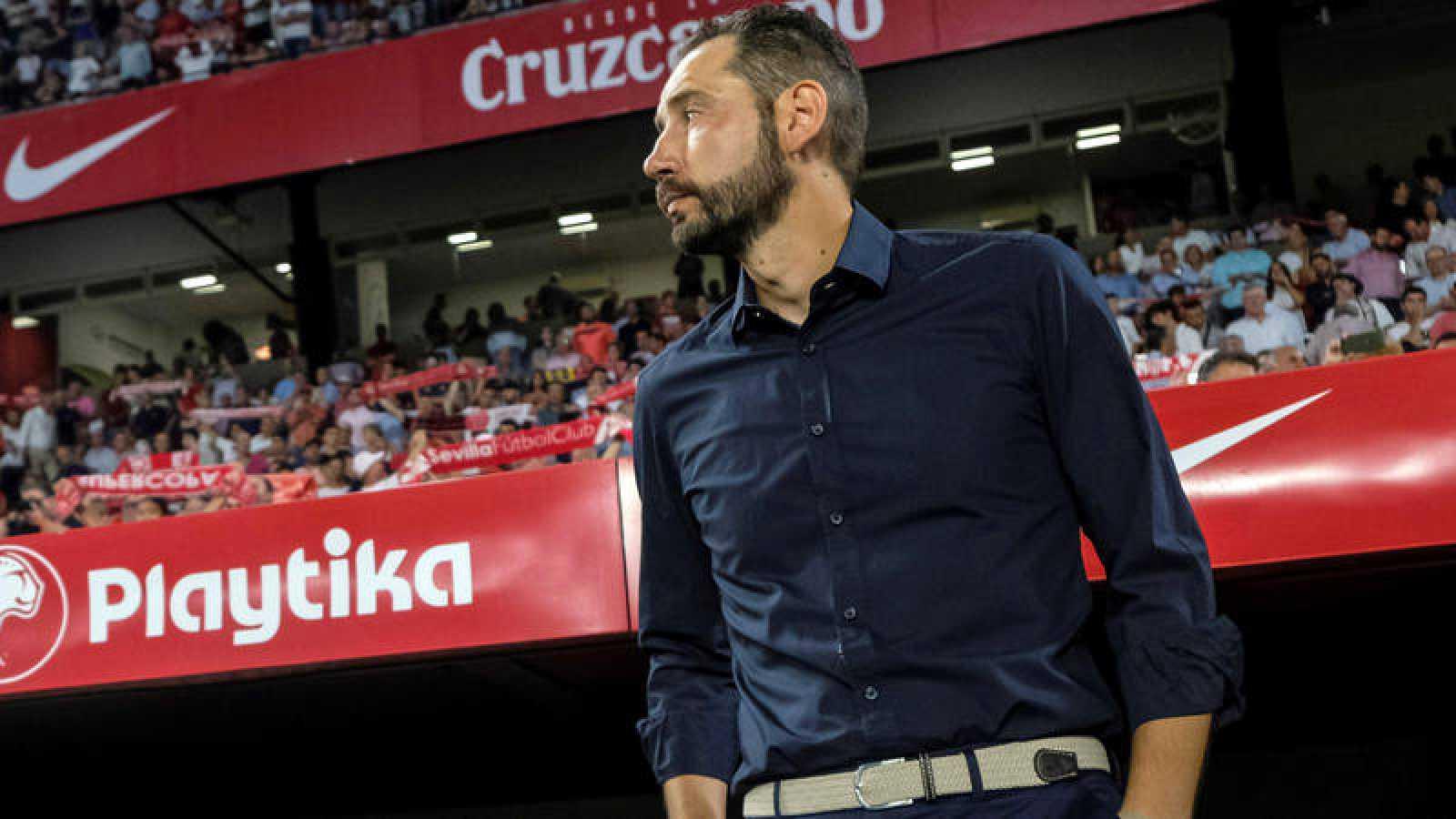 El entrenador del Sevilla, Pablo Machín.