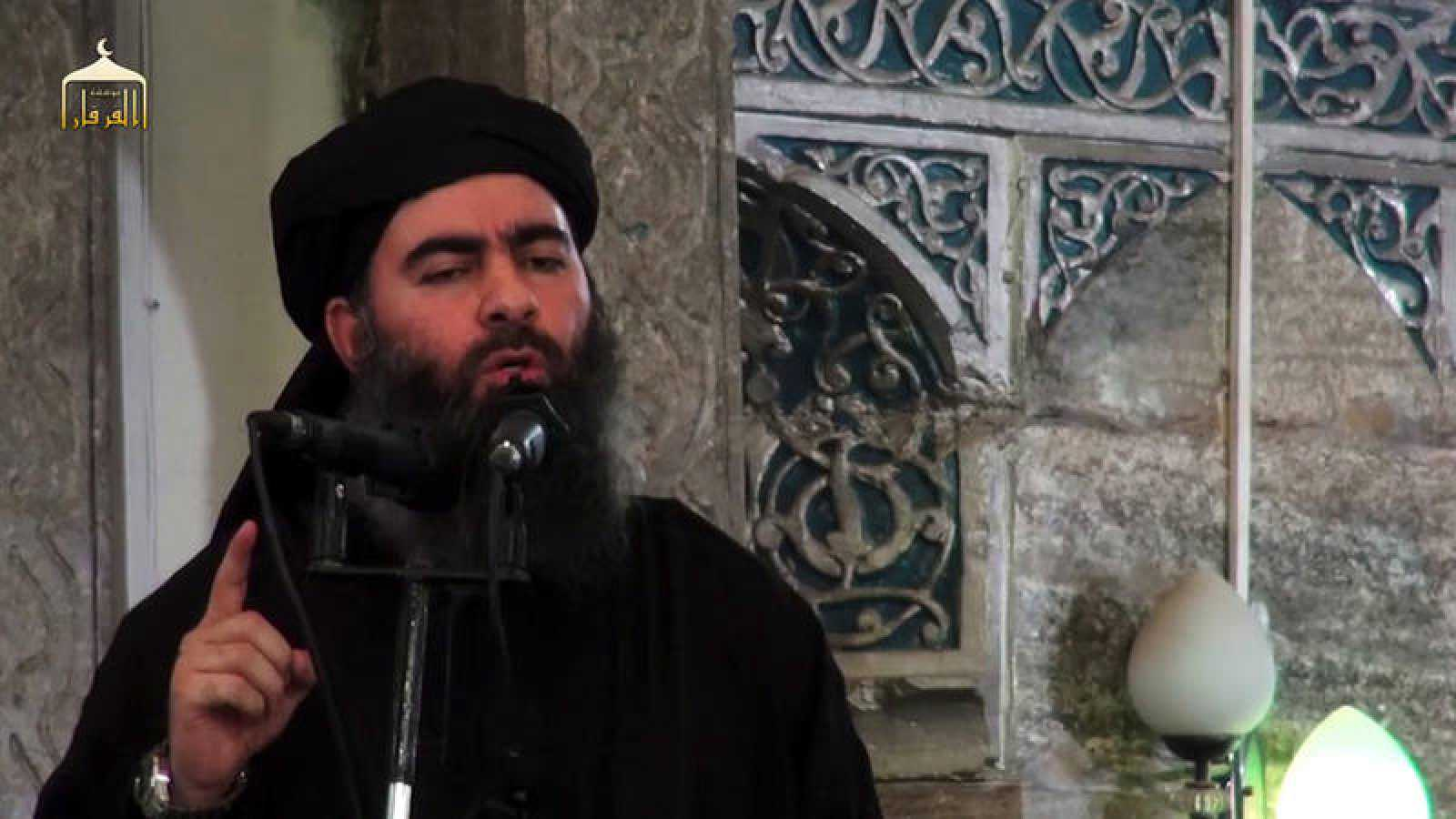 Al Baghdadi, durante un discurso en julio de 2014