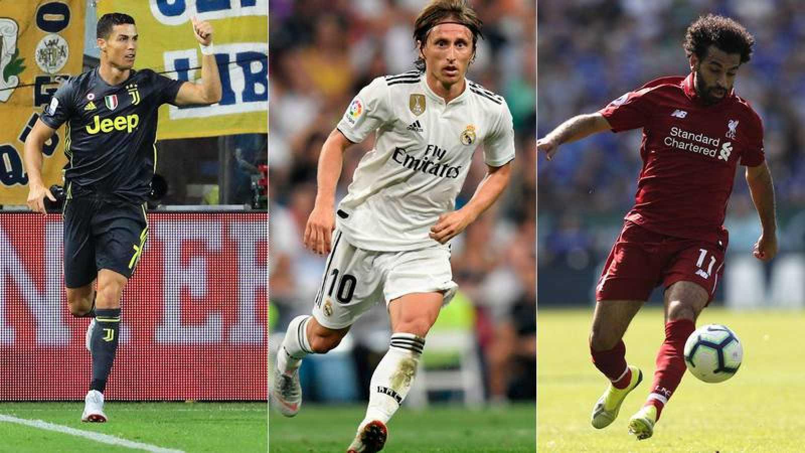 Cristiano, Modric y Salah, candidatos al premio 'The Best' de la FIFA