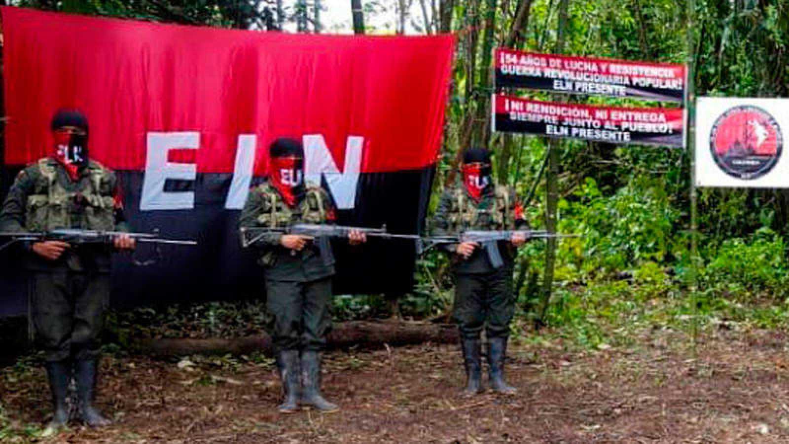 Imagen de archivo de la guerrilla del Ejército de Liberación Nacional de Colombia