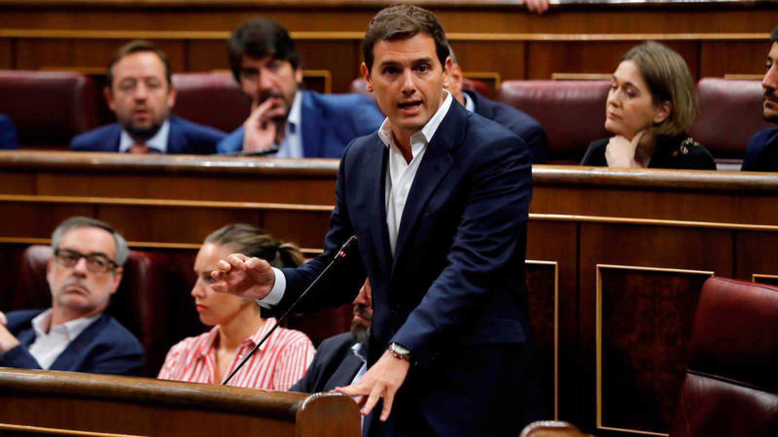 Albert Rivera, en el Congreso, durante una sesión de control al Gobierno.