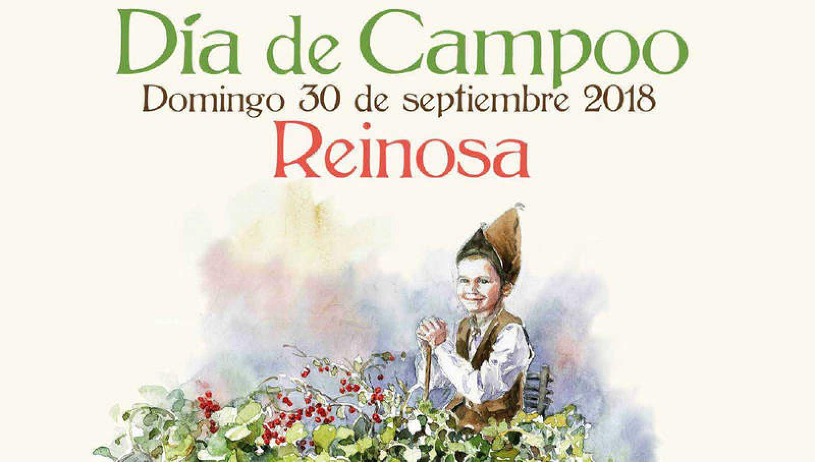Cartel del Día de Campoo 2018 ilustrado por la pintora reinosana Alicia Cañas