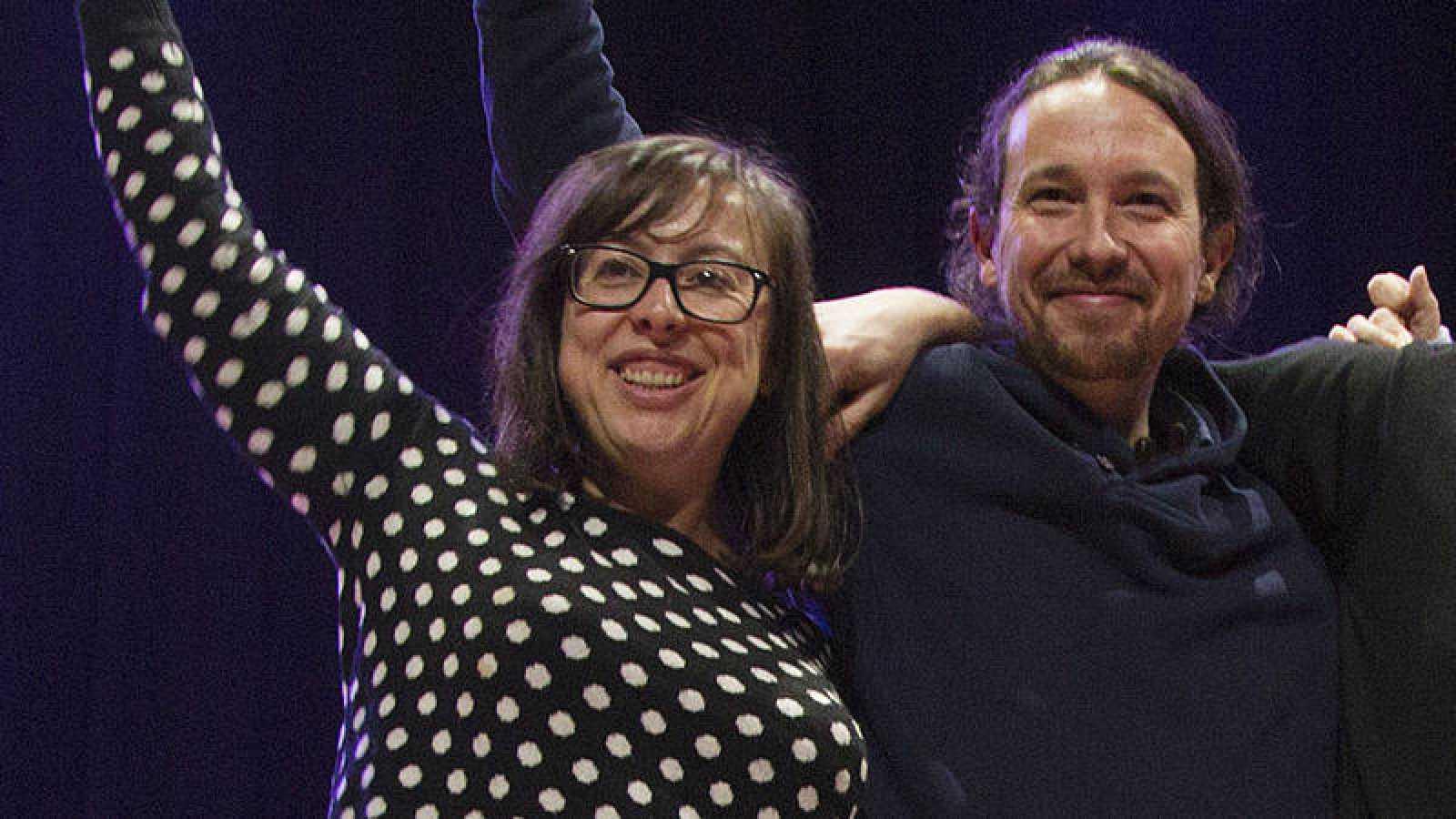 Noelia Bail y Pablo Iglesias (Podemos) en una foto de archivo