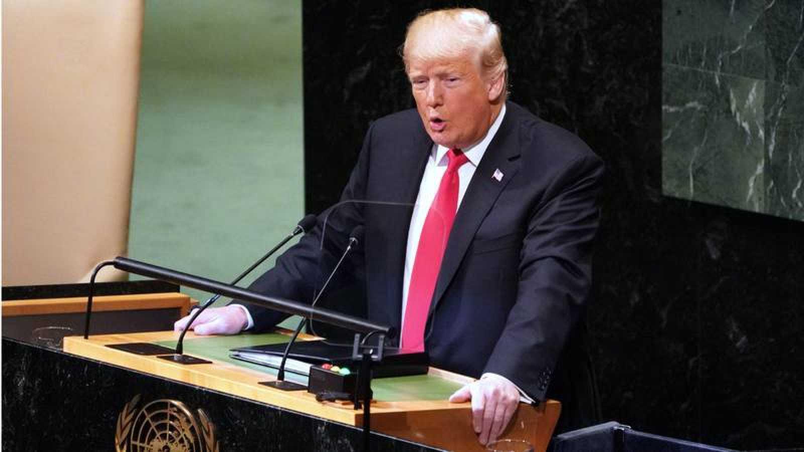 Trump, en su discurso en la Asamblea General de la ONU.