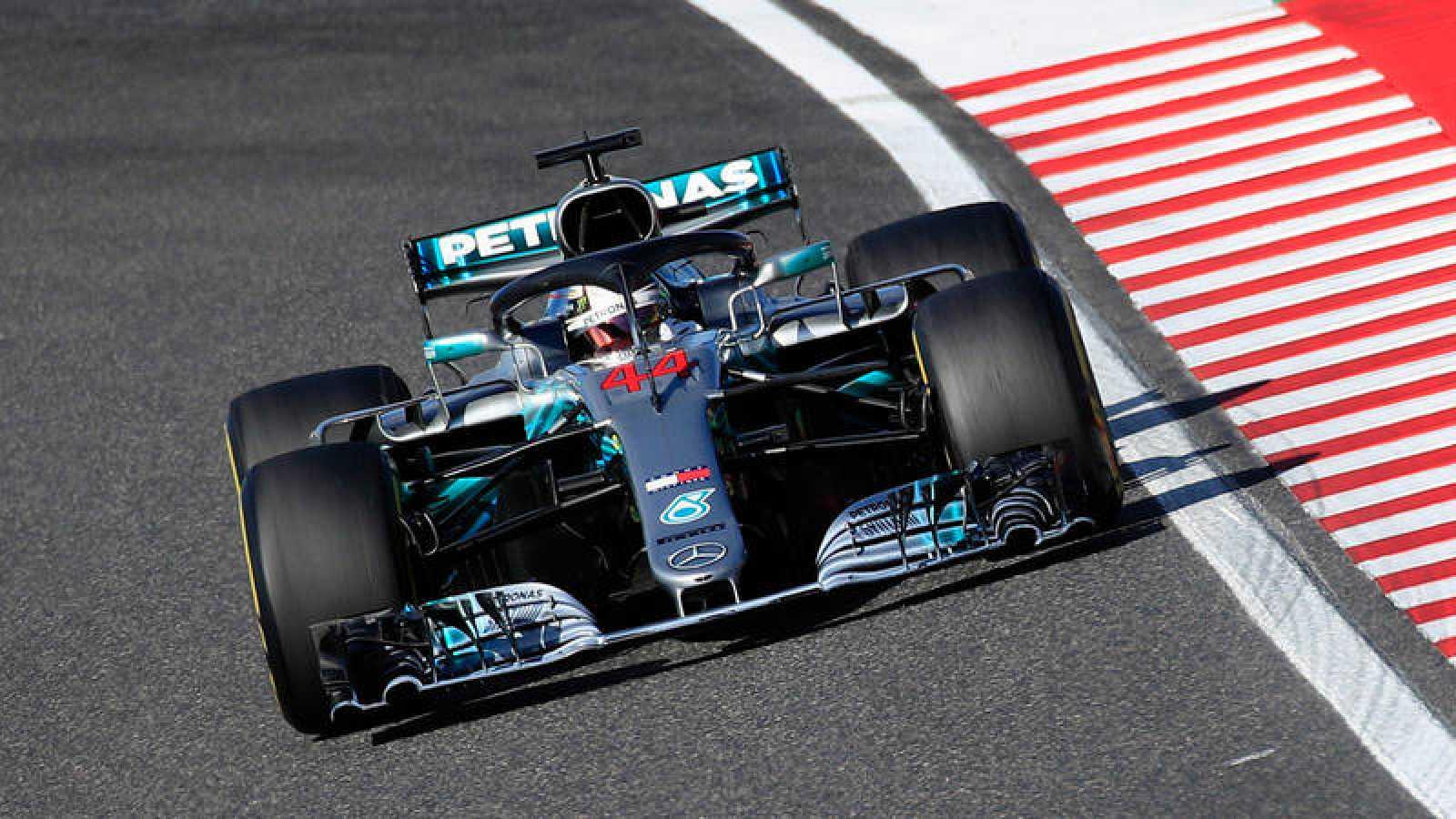 Lewis Hamilton, durante el Gran Premio de Japón