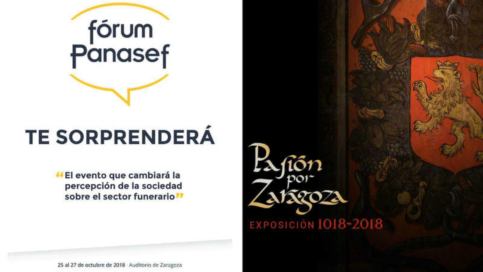 """Fórum de la Asociación Nacional de Servicios Funerarios y exposición """"Pasión por Zaragoza. El reino de los sentidos"""""""