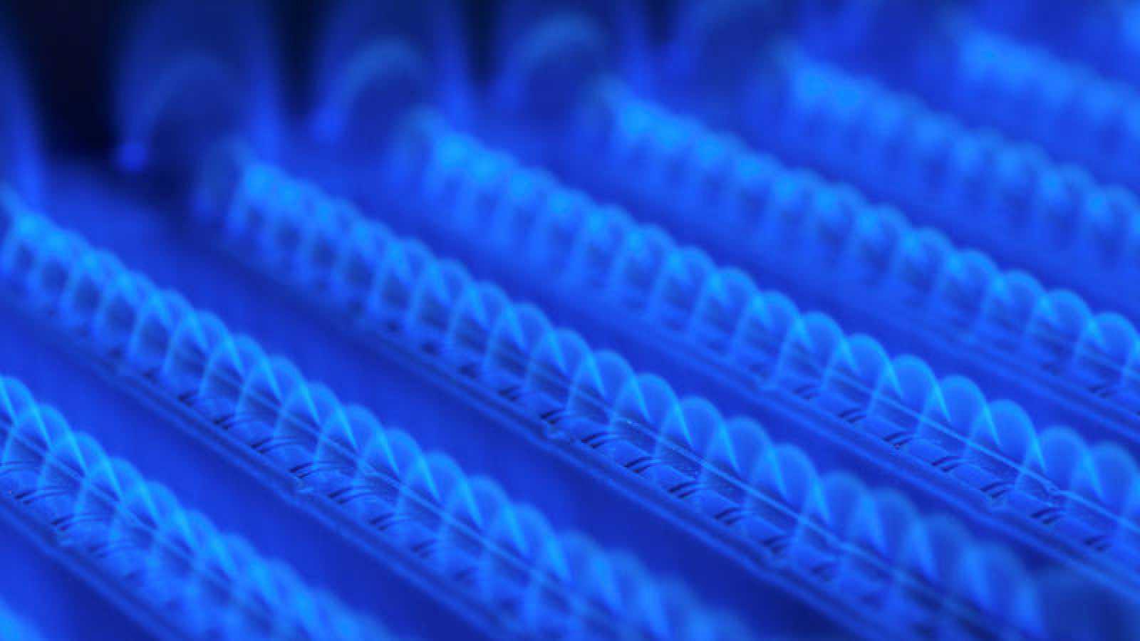 Detalle de una caldera de gas