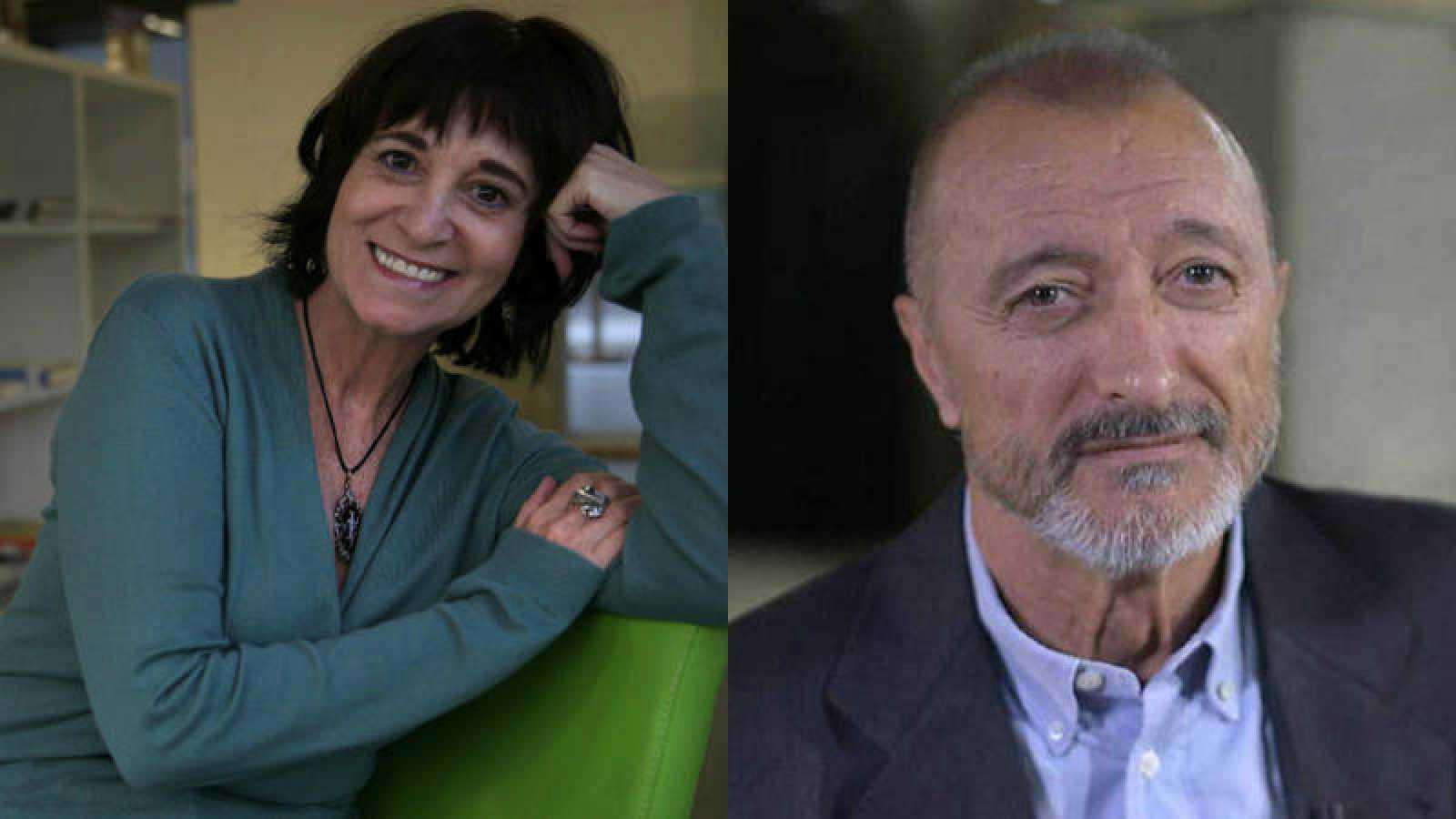 Los escritores Rosa Montero y Arturo Pérez-Reverte