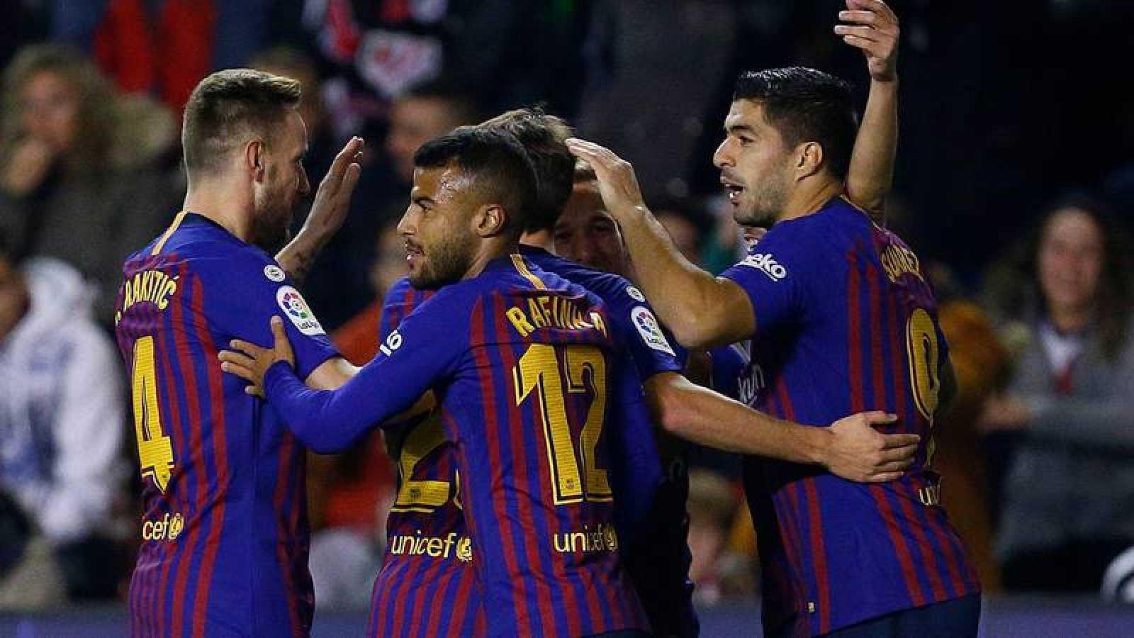 El Barça fulmina al Rayo con una remontada final