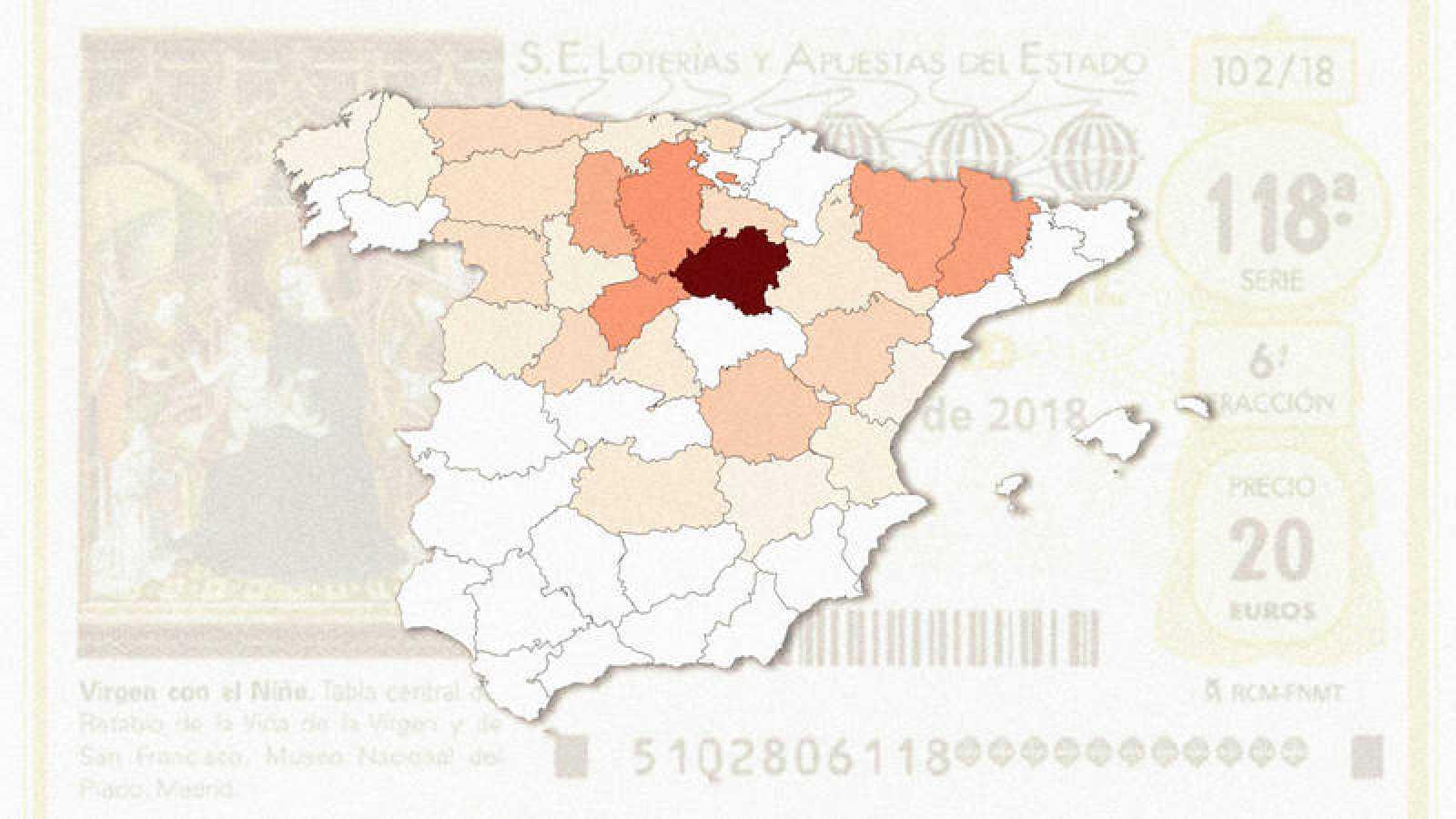 Mira los mapas con el gasto total y por habitante detallado por provincias