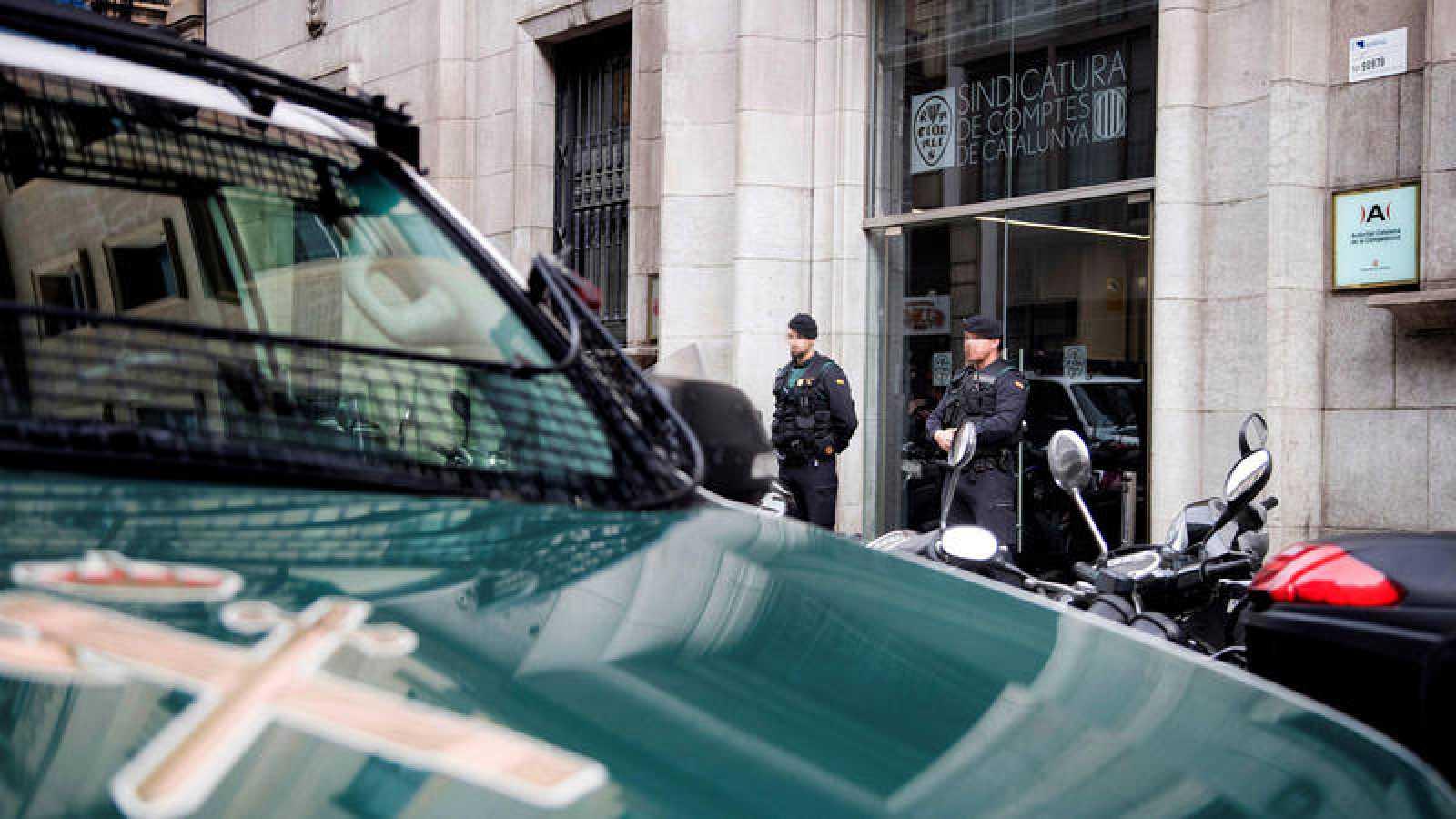 La Guardia Civil, en la sede de la Autoridad Catalana de la Competencia