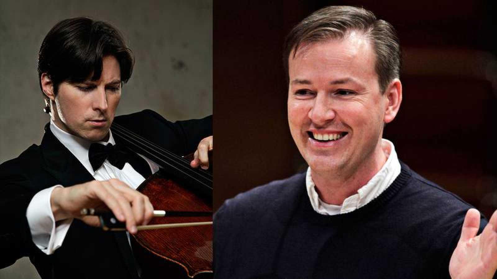 El chelista Daniel Múller-Schott y el director Erik Nielsen