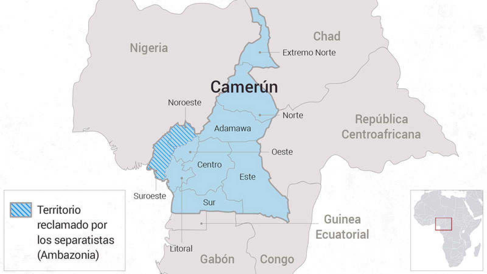 Camerún y sus diez regiones