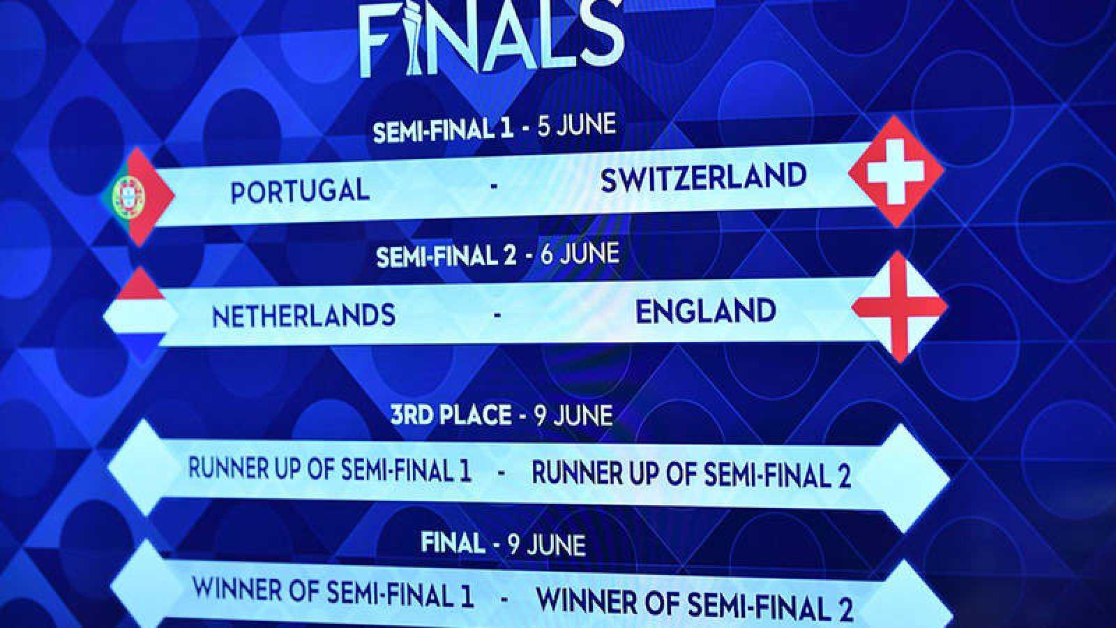 Portugal-Suiza y Holanda-Inglaterra, semifinales de la Liga de las Naciones