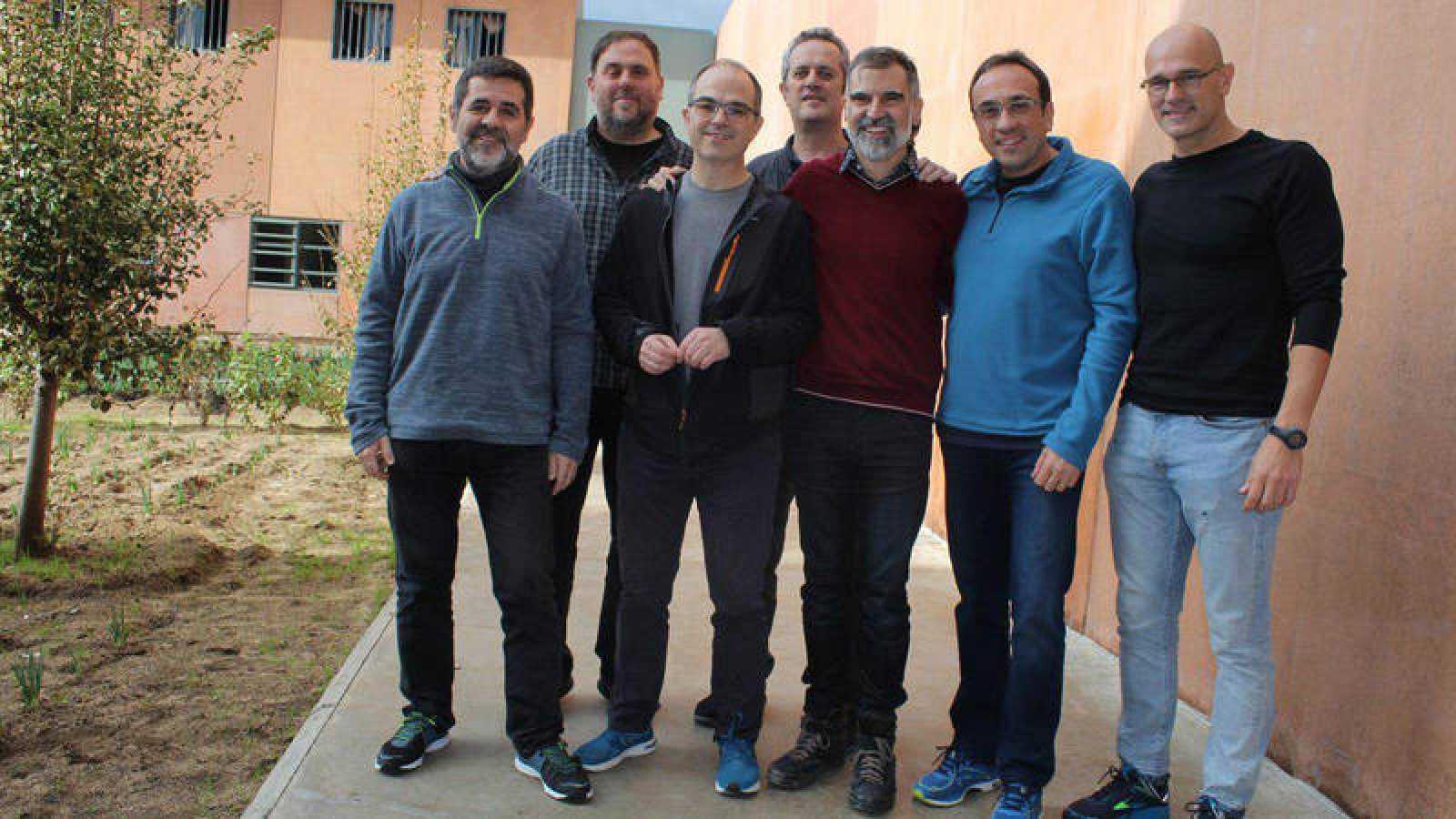 Los políticos catalanes presos de la cárcel de Lledoners