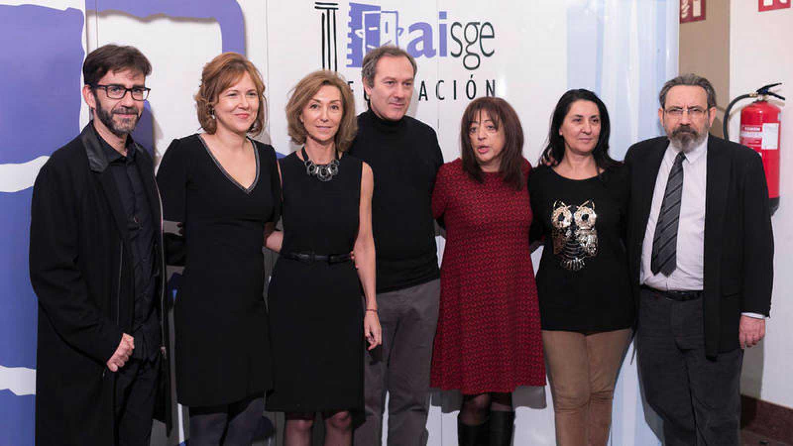 El equipo de 'De película', en el acto de entrega del premio.