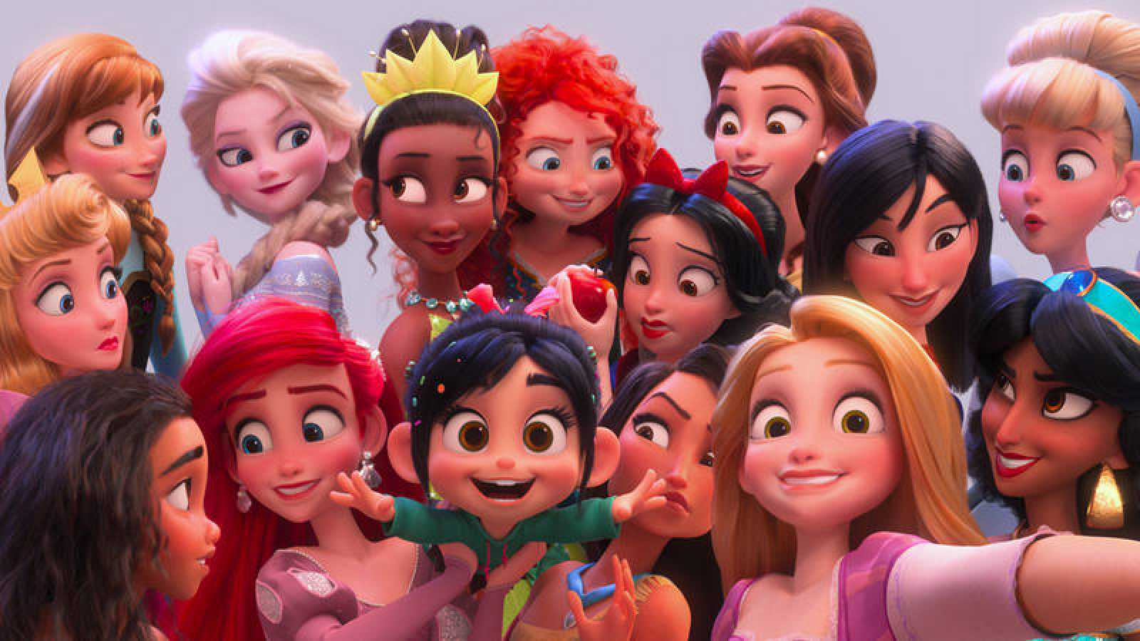 Princesas Disney en Ralph Rompe Internet