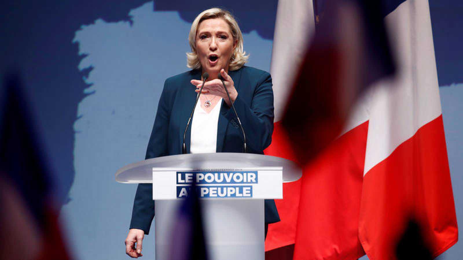La líder del partido de extrema derecha Agrupación Nacional, Marine Le Pen.