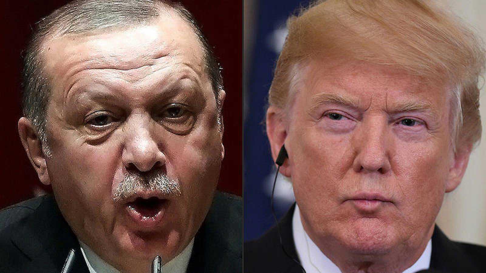 El presidente turco, Recep Tayyip Erdogan (izquierda) y el estadounidense, Donald Trump (Fotos: ADEM ALTAN and SAUL LOEB / AFP)
