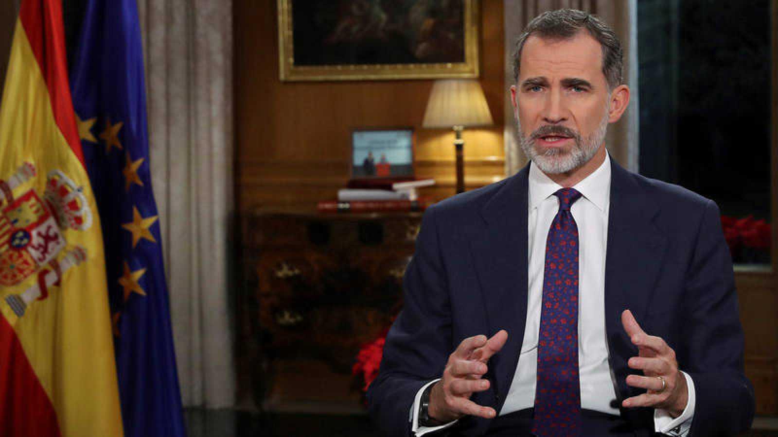 El rey Felipe pronuncia el tradicional mensaje de Navidad desde el Palacio de La Zarzuela