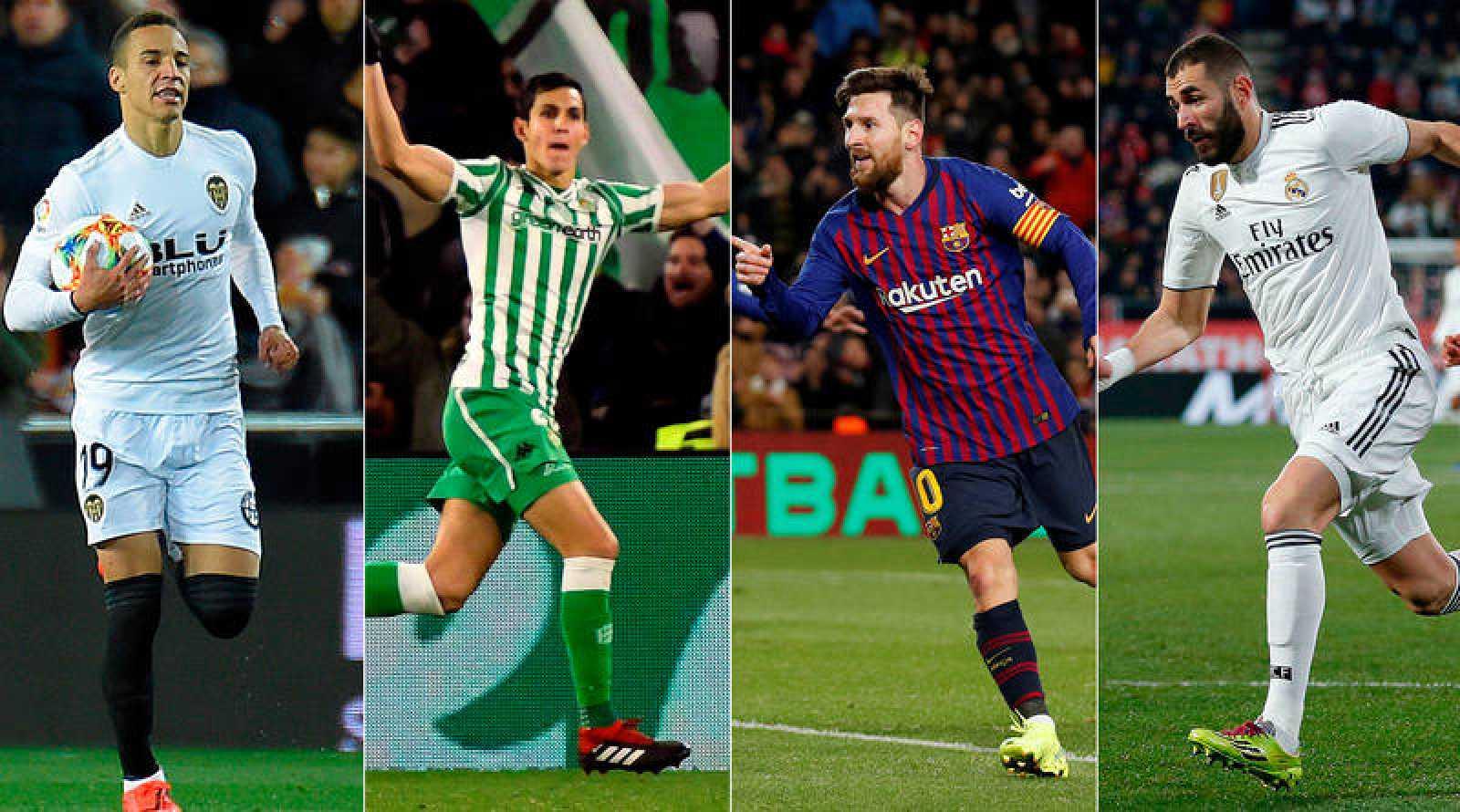 Valencia, Betis, Barcelona y Real Madrid, semifinalistas de Copa.