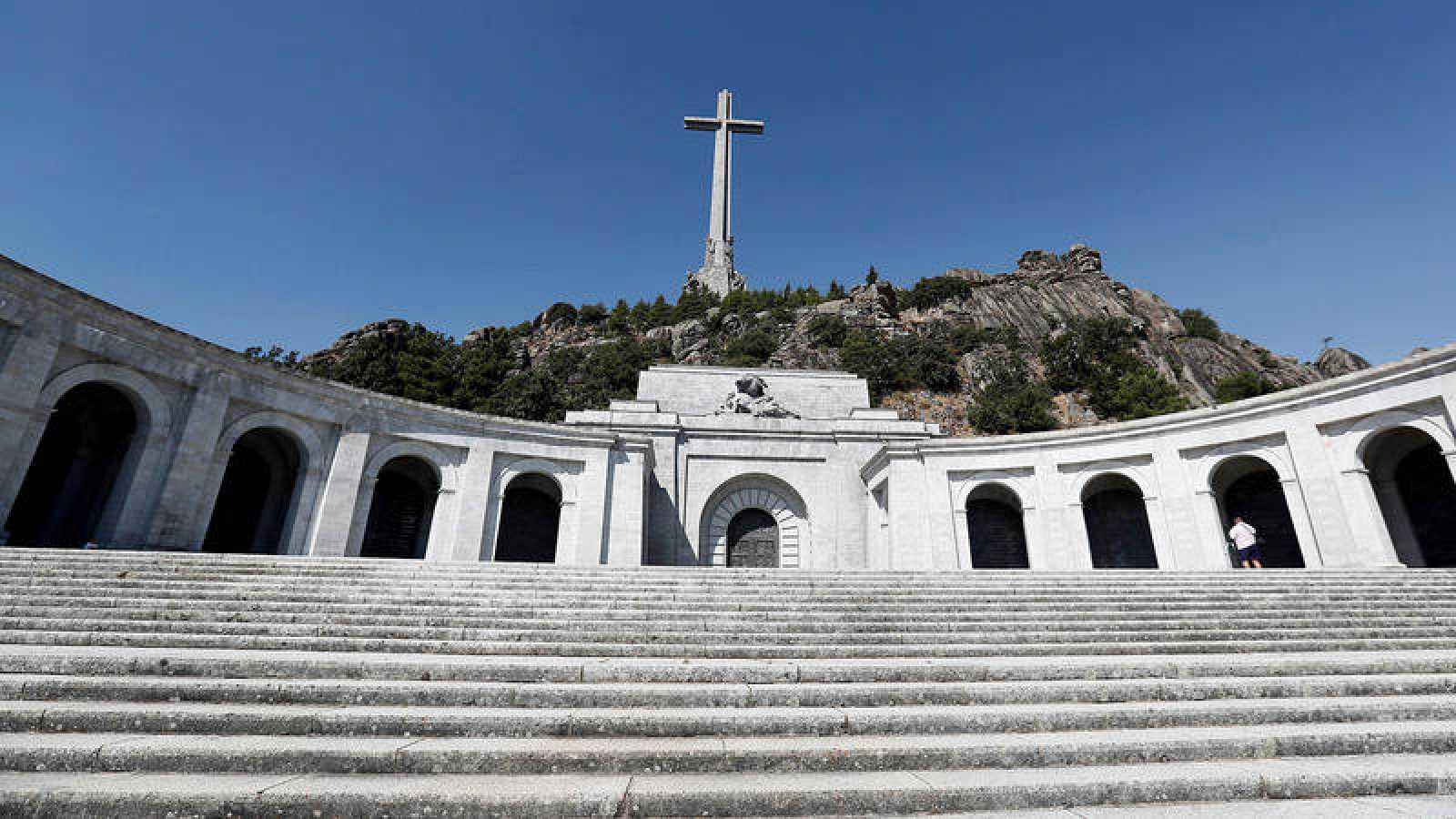 Vista de la basílica del Valle de los Caídos, donde están enterrados los restos del dictador Francisco Franco