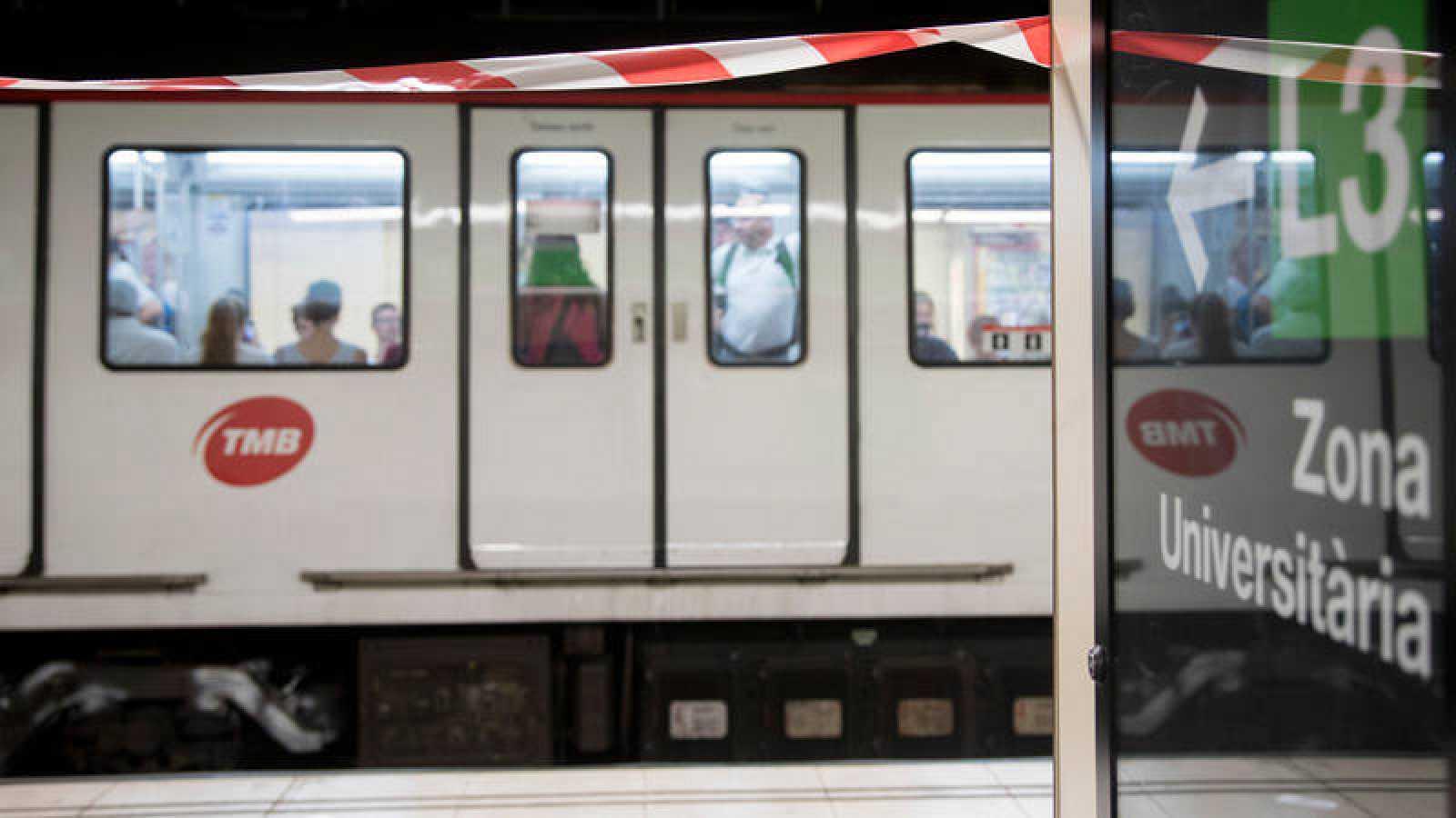Andén del Metro de Barcelona