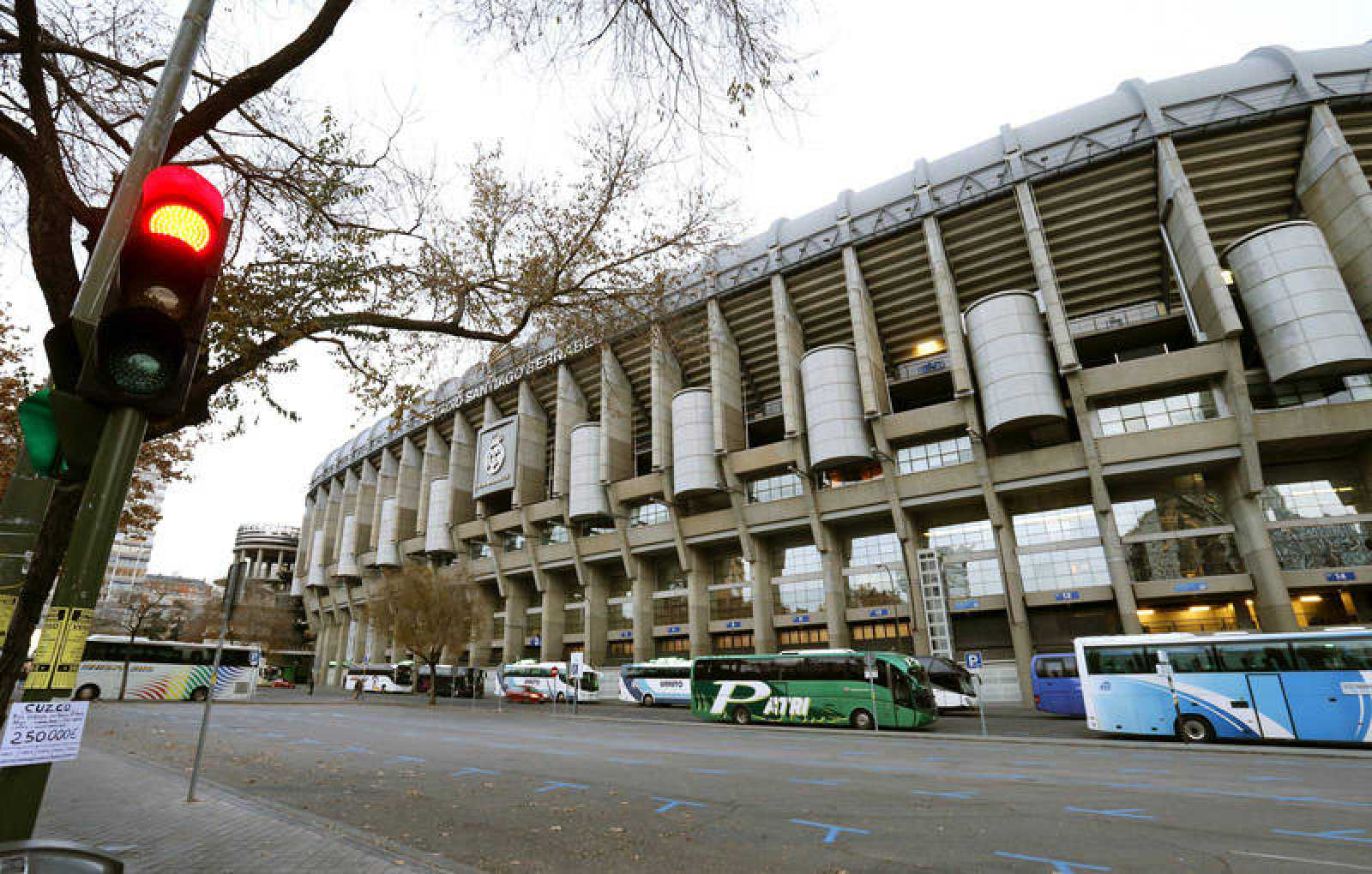 Vista del estadio Santiago Bernabéu
