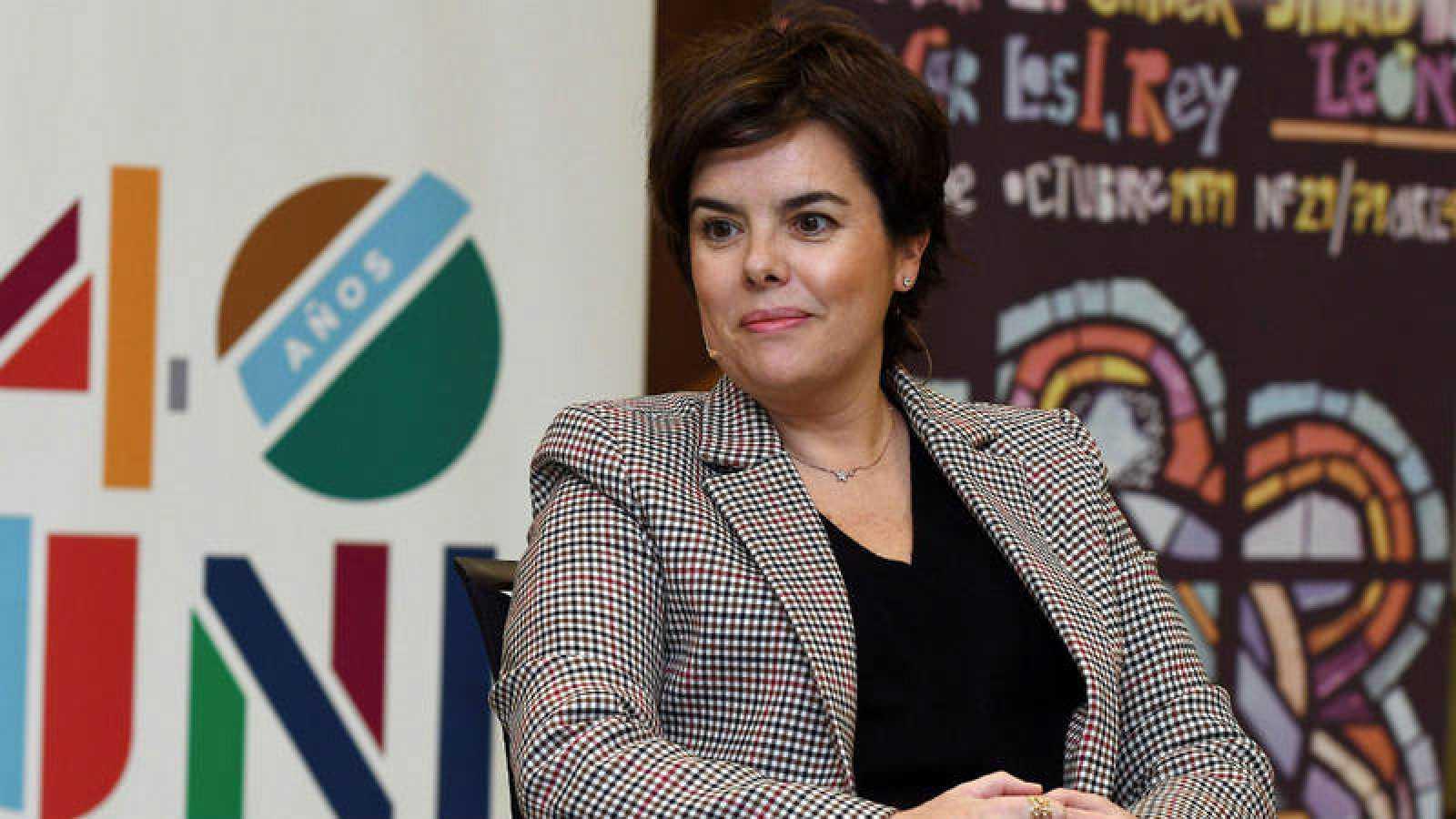 La exvicepresidenta del Gobierno Soraya Sáez de Santamaría en una imagen de archivo