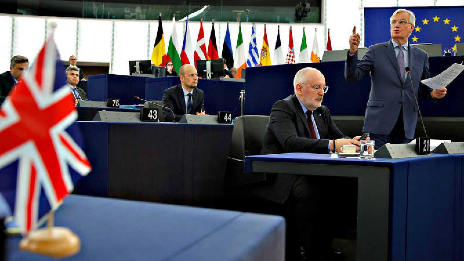 El negociador jefe de la UE para el 'Brexit', Michel Barnier, en el Parlamento Europeo
