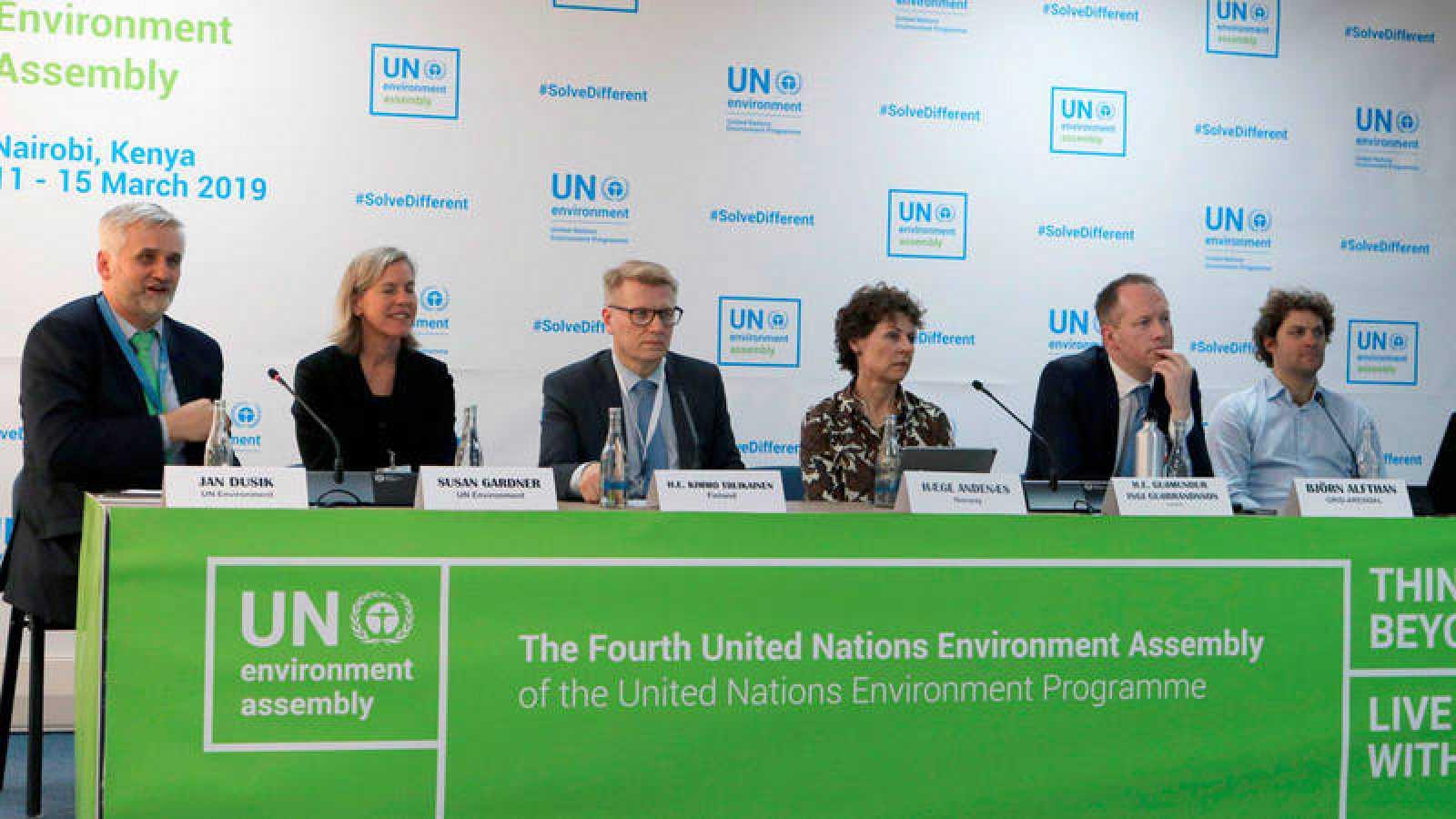 Un momento de la presentación de la IV Asamblea de ONU Medio Ambiente, en Nairobi.