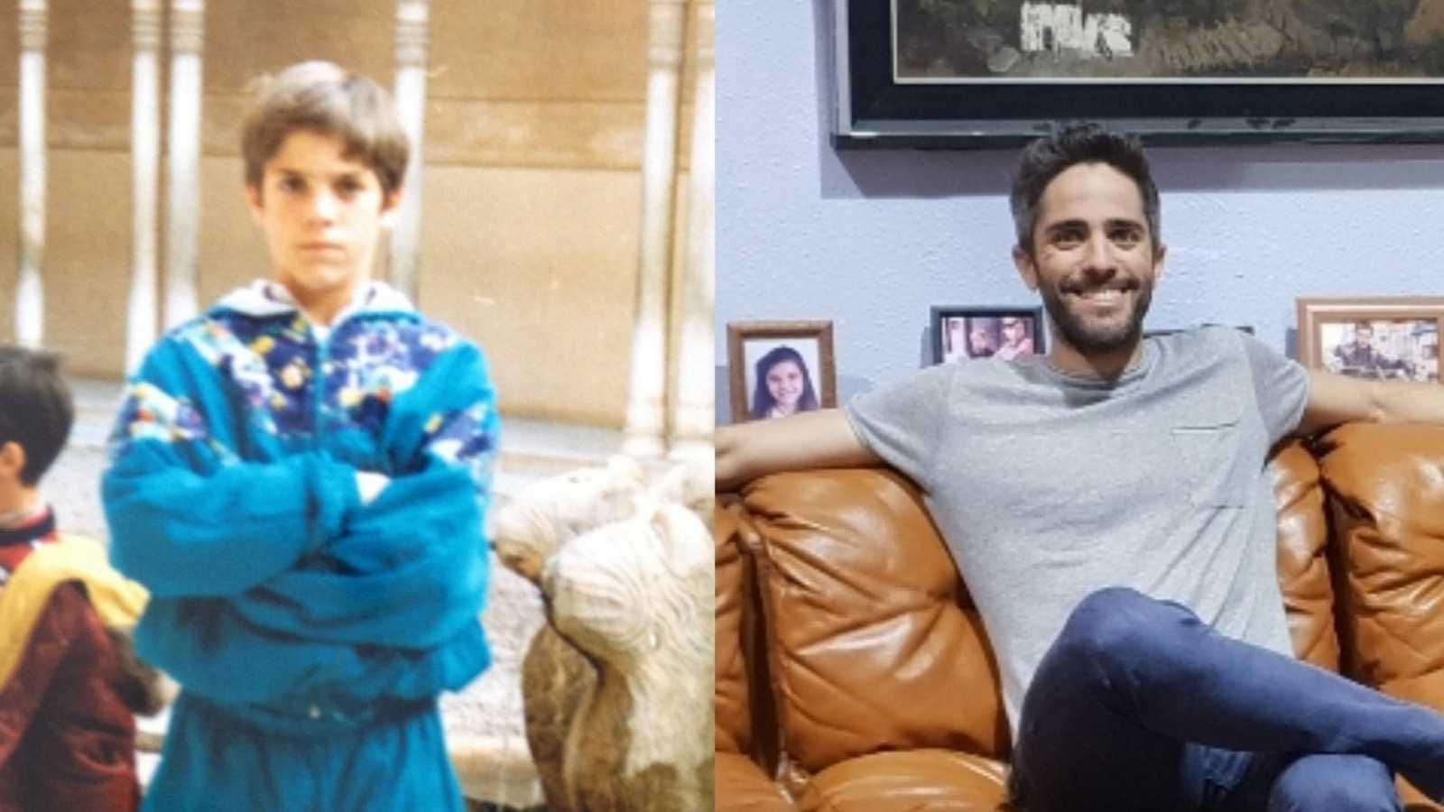 #CuéntameChallenge: el presentador Roberto Leal en 1989 y en la actualidad