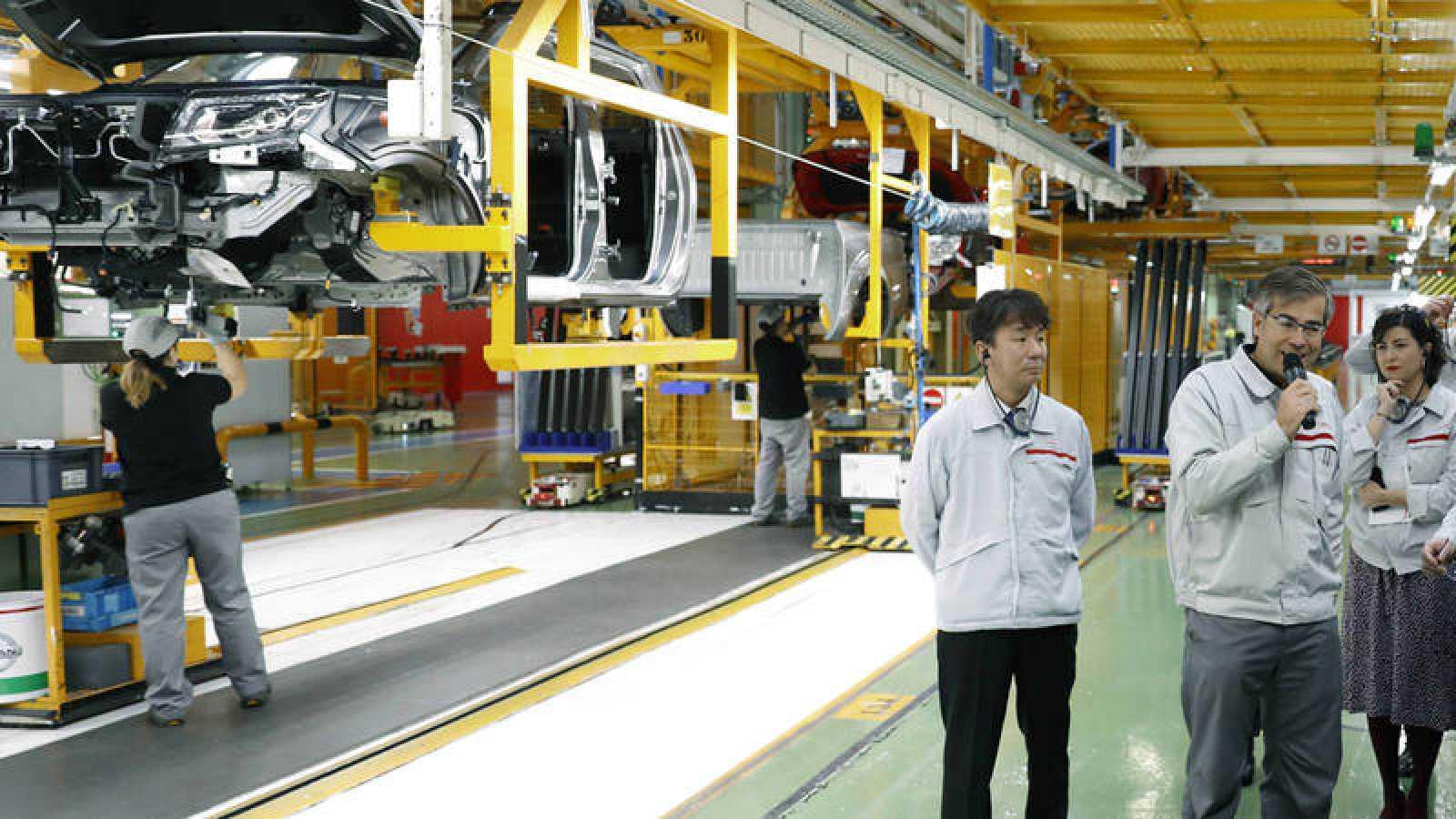 Interior de la fábrica de Nissan en la Zona Franca de Barcelona