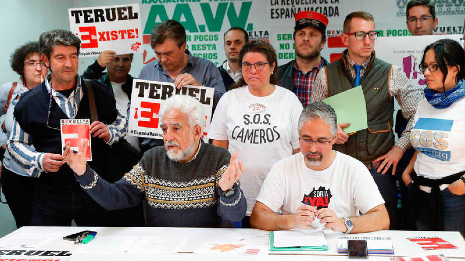 Rueda de prensa ofrecida este sábado por la Federación Regional de Asociaciones Vecinales de Madrid (FRAVM)