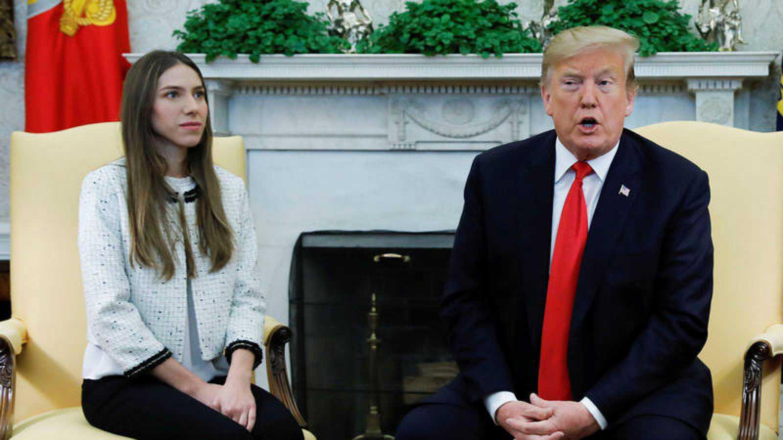 Trump recibe por sorpresa a la mujer de Guaidó en la Casa Blanca