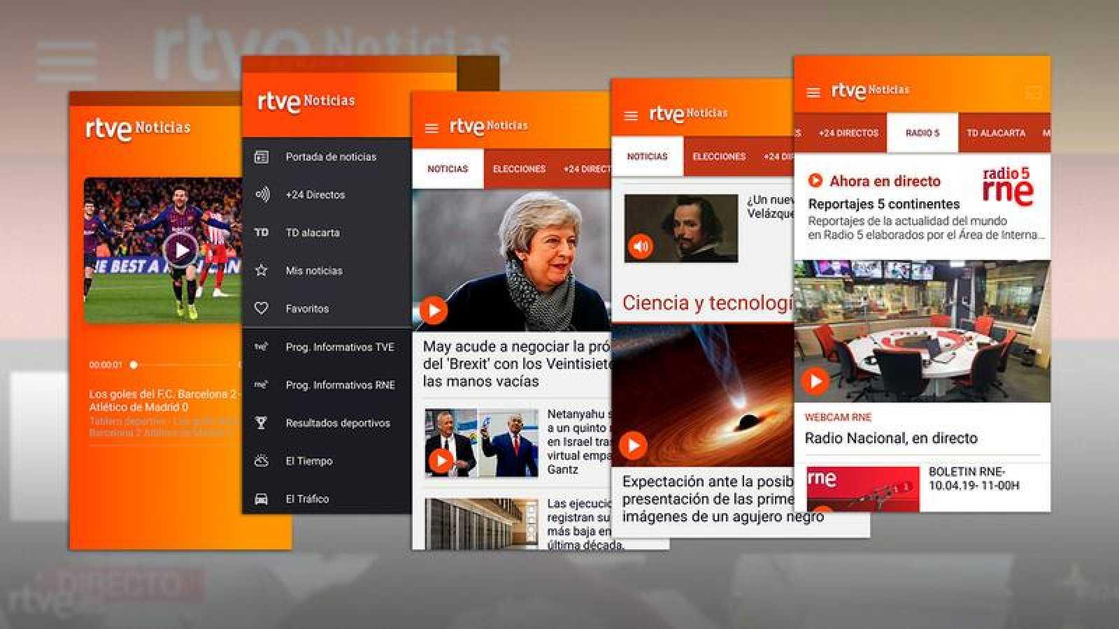 La nueva app de 'RTVE Noticias'