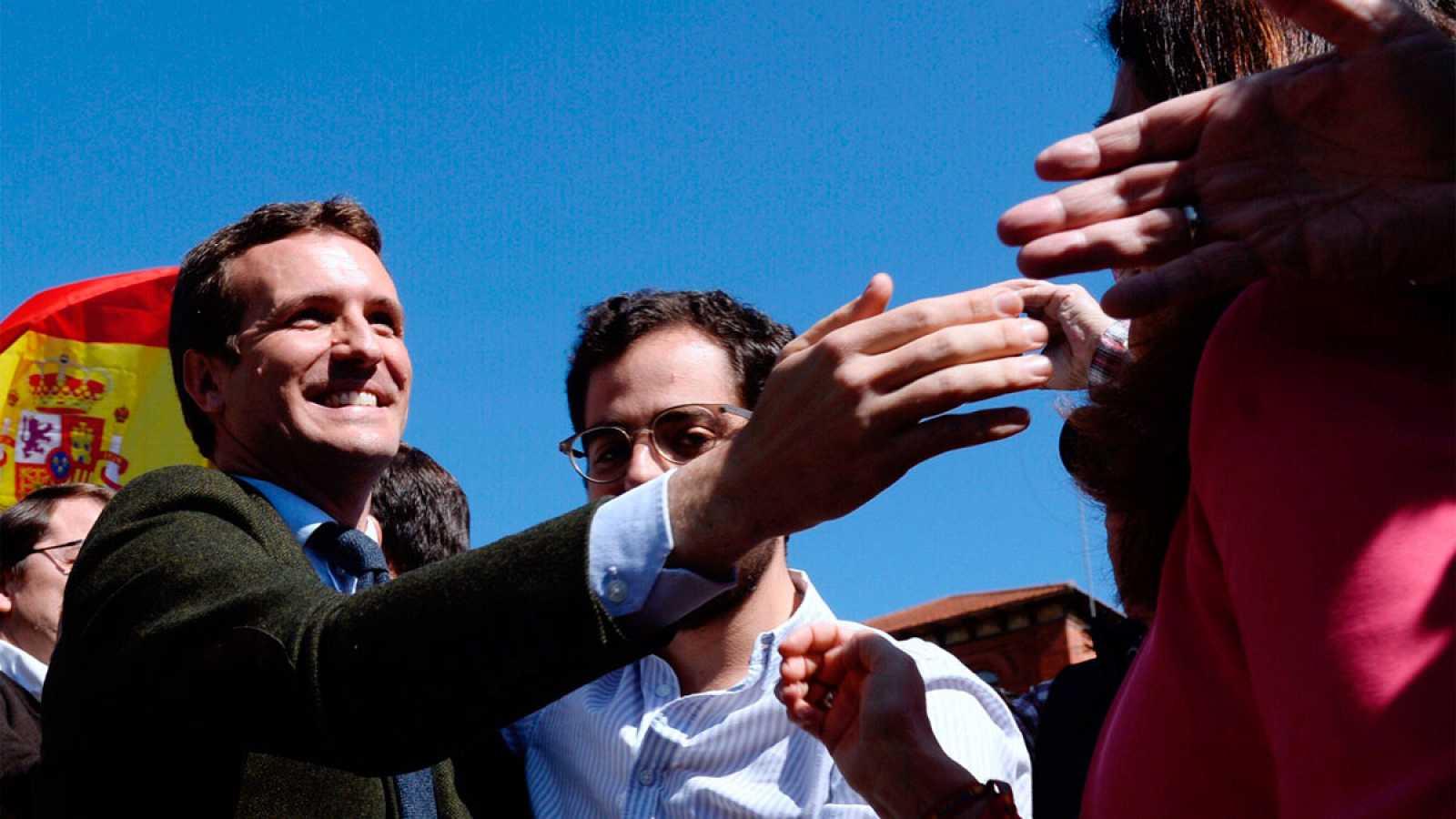 El presidente del PP, Pablo Casado, en un acto en Valladolid