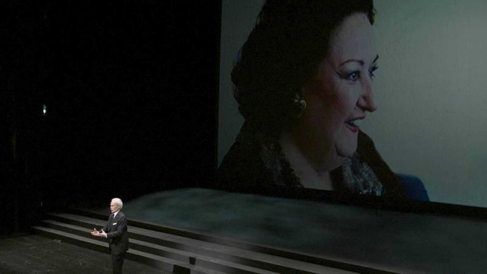 Instantánea del homenaje a Montserrat Caballé en el Liceu