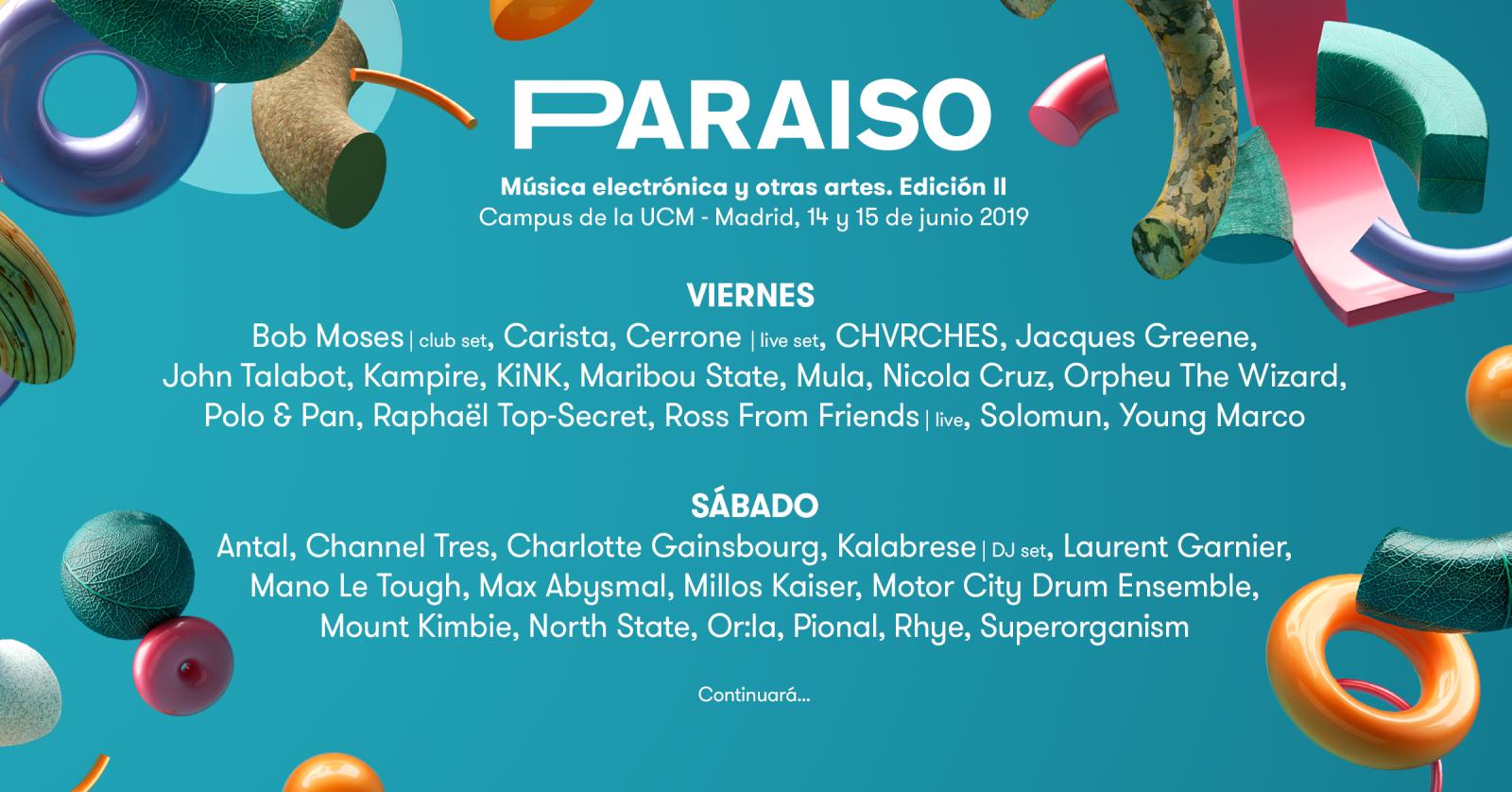 Cartel de la segunda edición del festival Paraiso