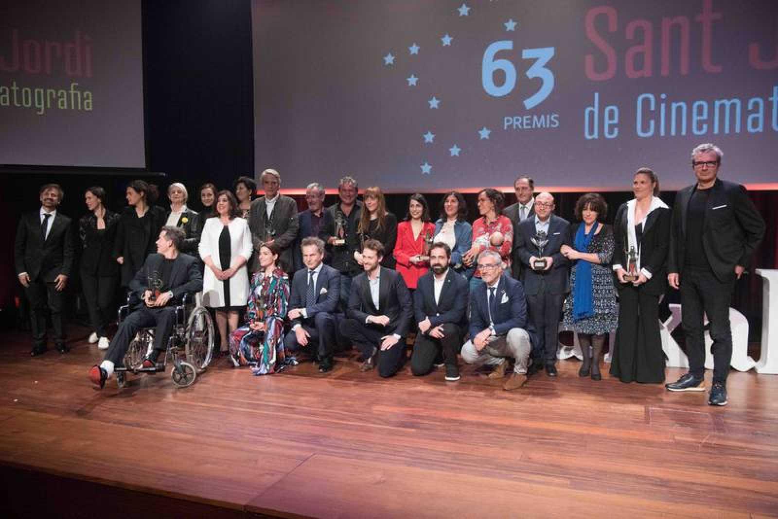 Foto de familia de los Premios Sant Jordi de Cinematografía 2019