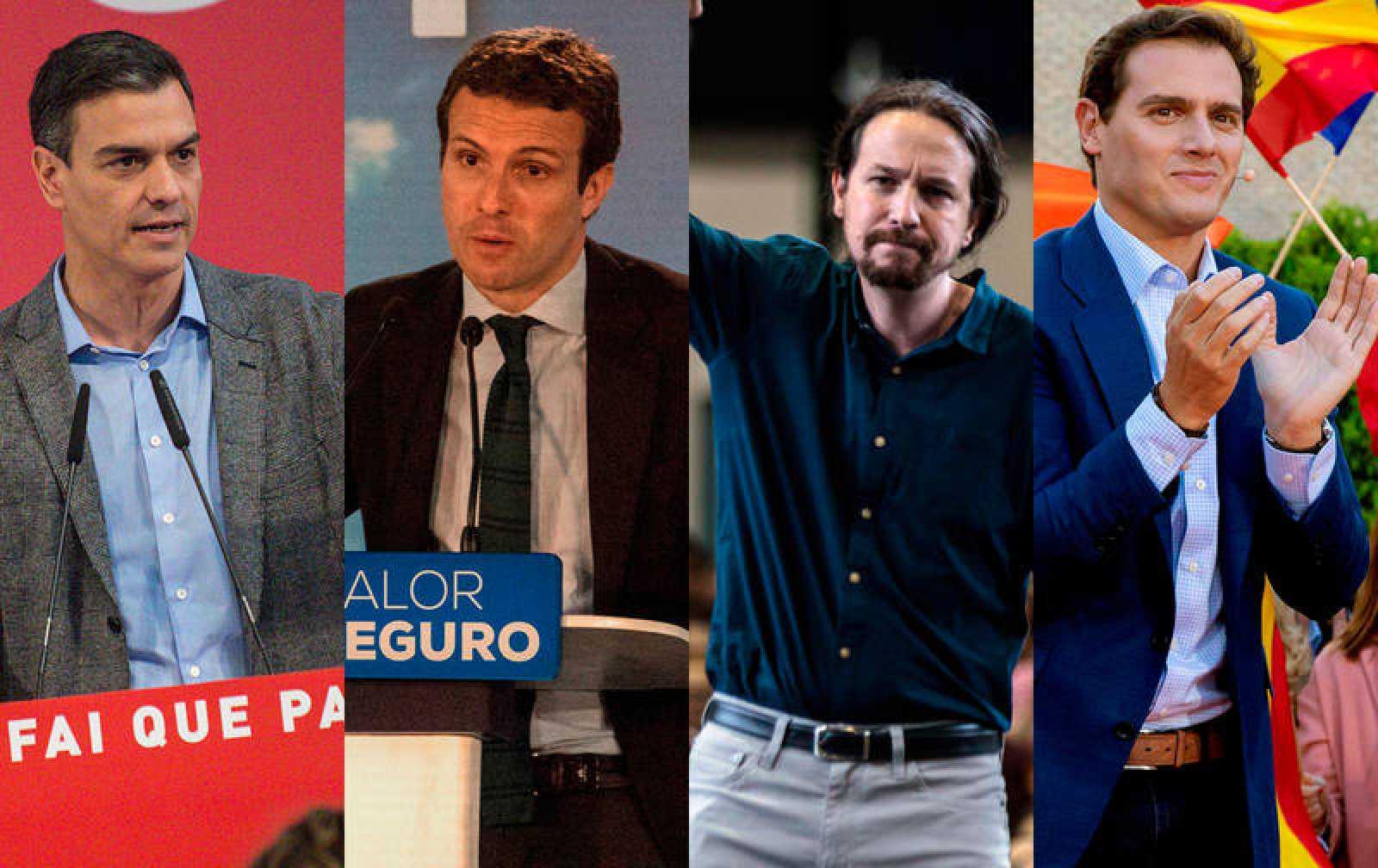 Sánchez, Casado, Iglesias y Rivera, en la imagen