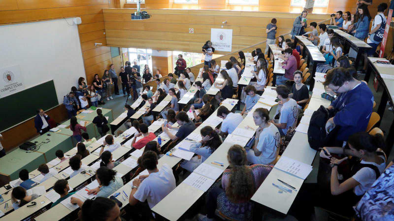 Alumnos en las pruebas de Evaluación de Bachillerato para el Acceso a la Universidad, Selectividad