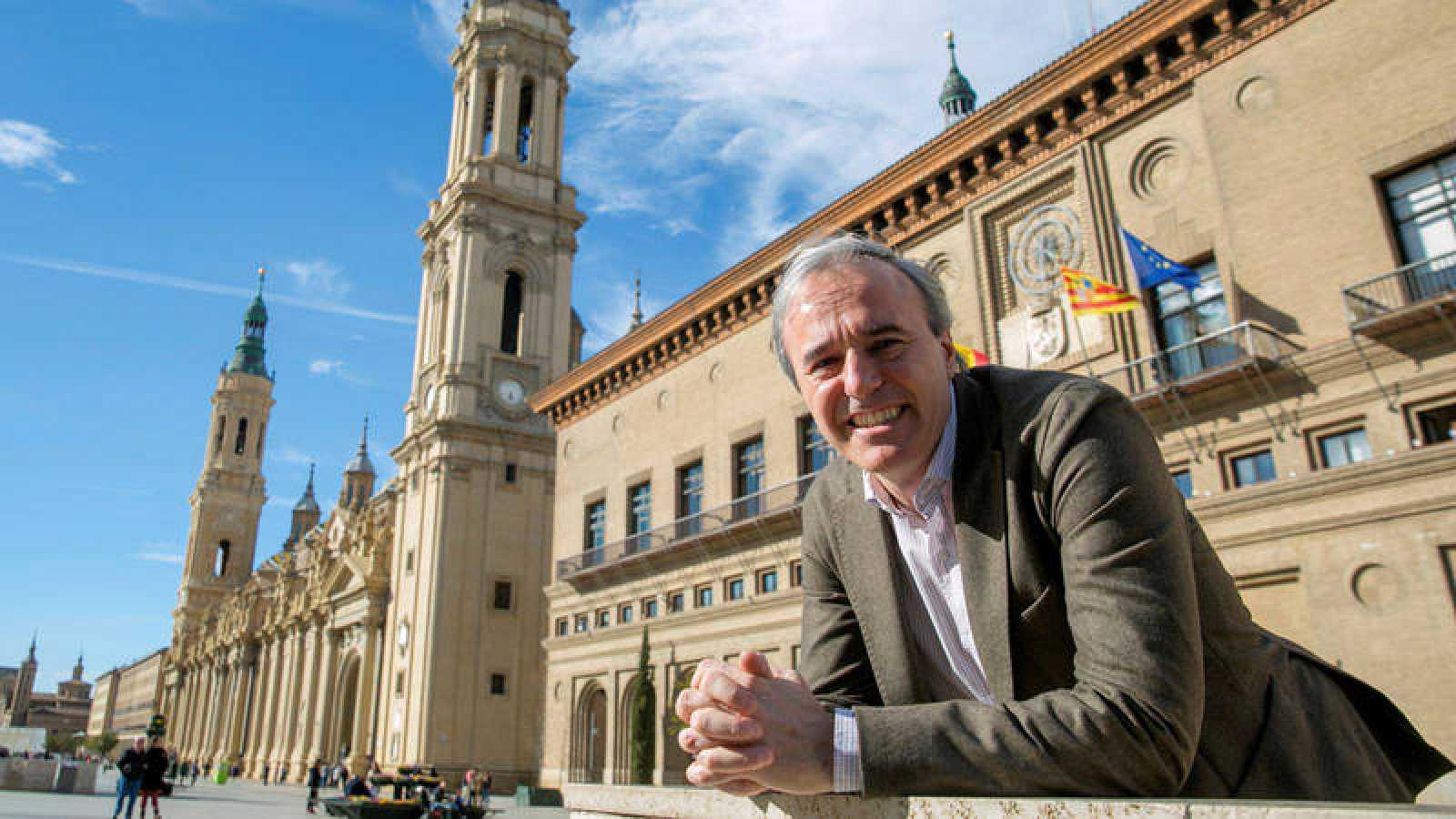 El candidato del PP a la Alcaldía de Zaragoza, Jorge Azcón