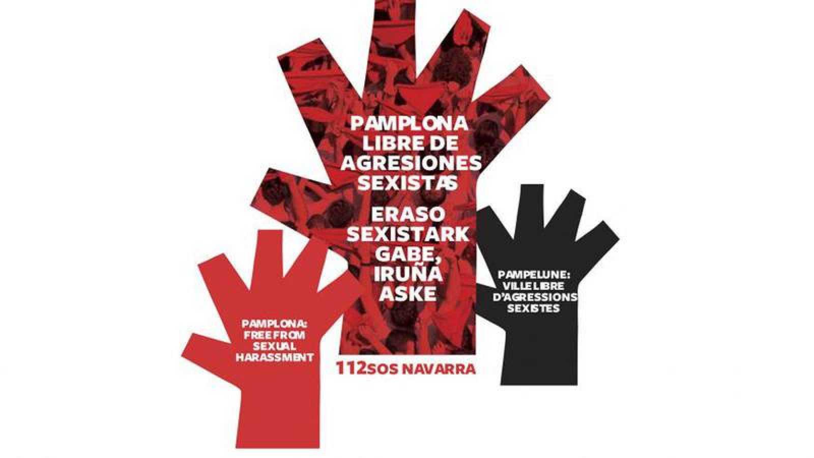 Estrategia 'Pamplona libre de agresiones sexistas' por los Sanfermines