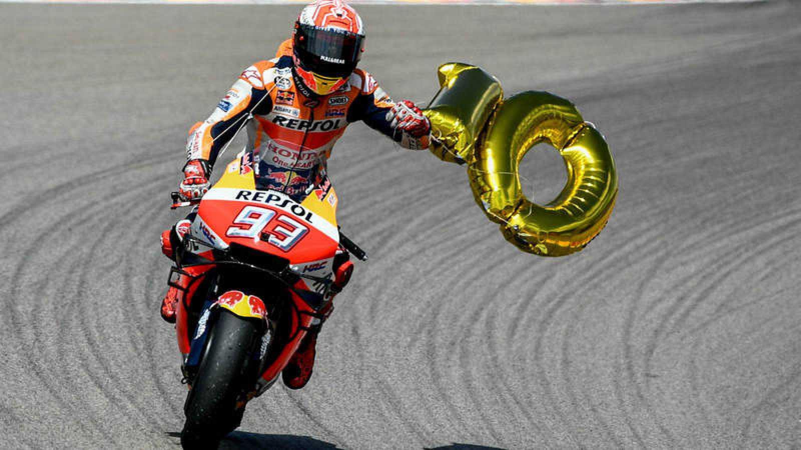 Marc Márquez celebra su décima victoria en Sachsenring