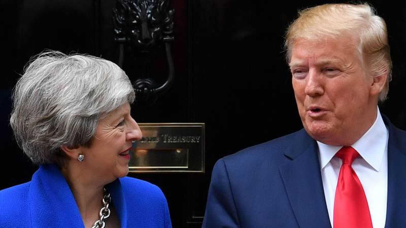 Donald Trump y Theresa May, reunidos en Londres en junio