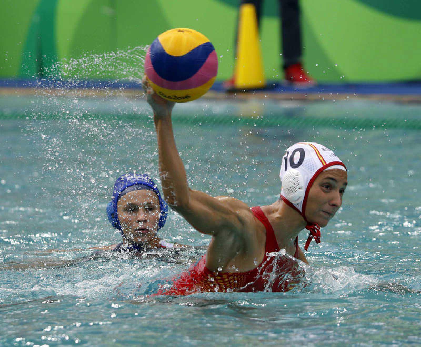 Roser Tarragó, en un partido de los Juegos de Río