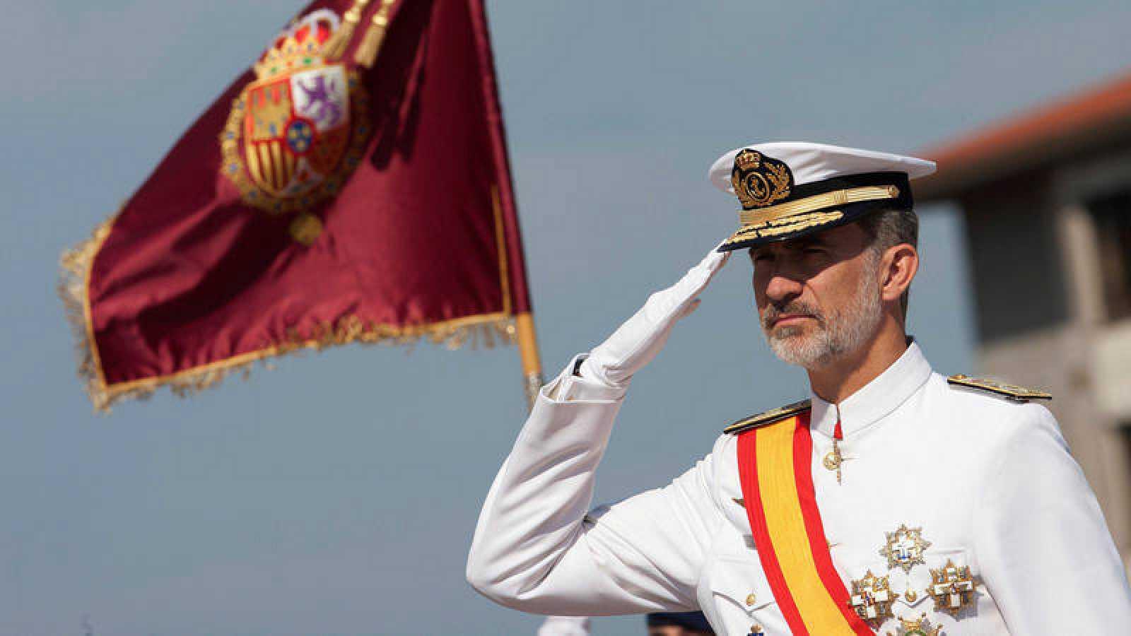 El rey Felipe VI durante un acto este martes